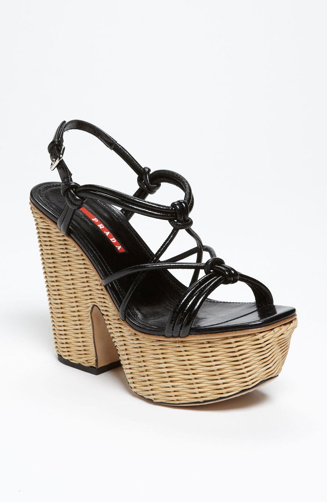 Alternate Image 1 Selected - Prada Wicker Sandal