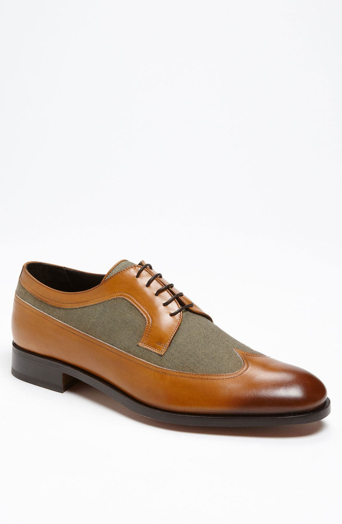 'Rudello' Longwing Oxford,                             Main thumbnail 1, color,                             Tan Calf