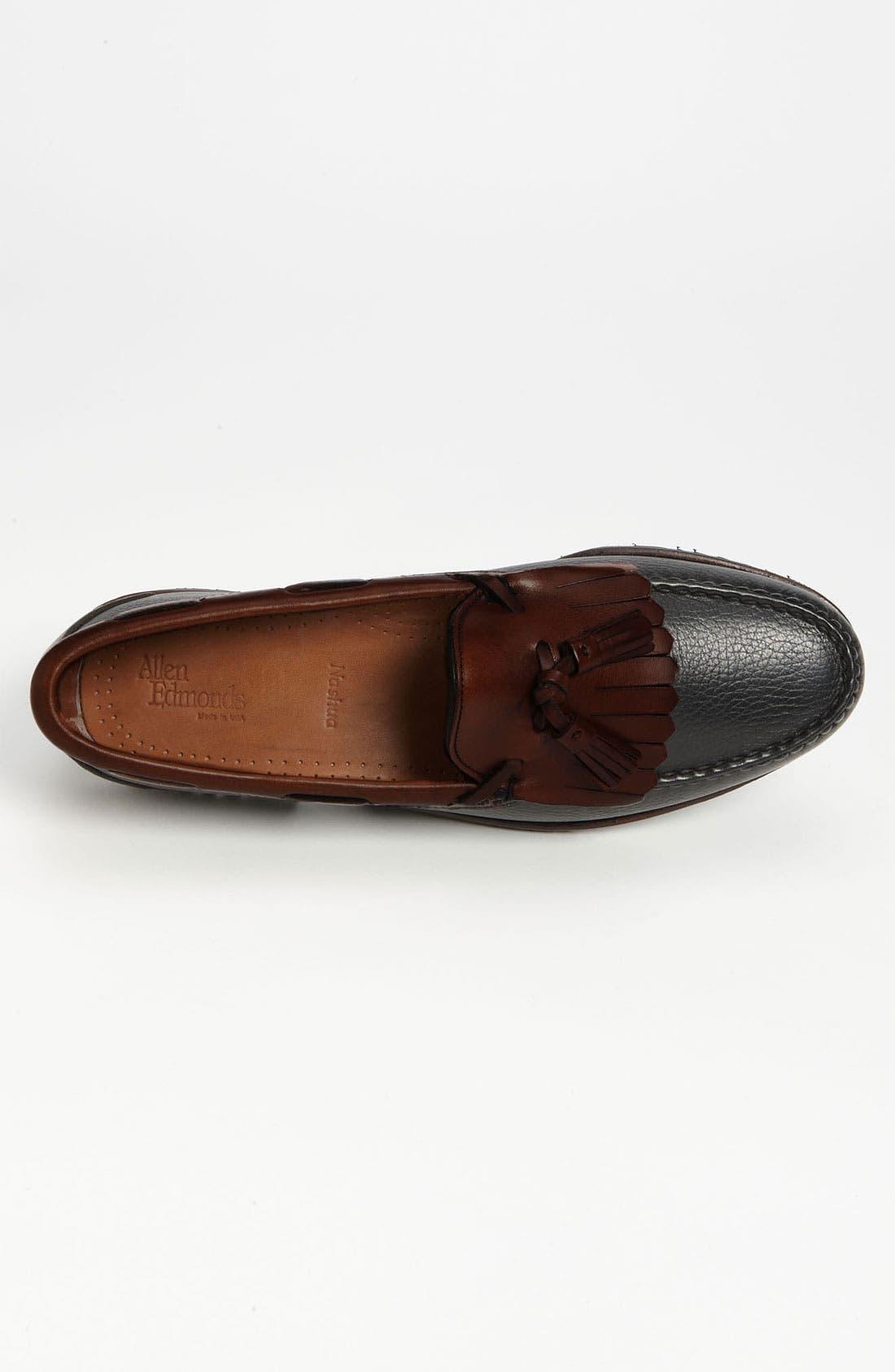 'Nashua' Tassel Loafer,                             Alternate thumbnail 3, color,                             Black/ Brown