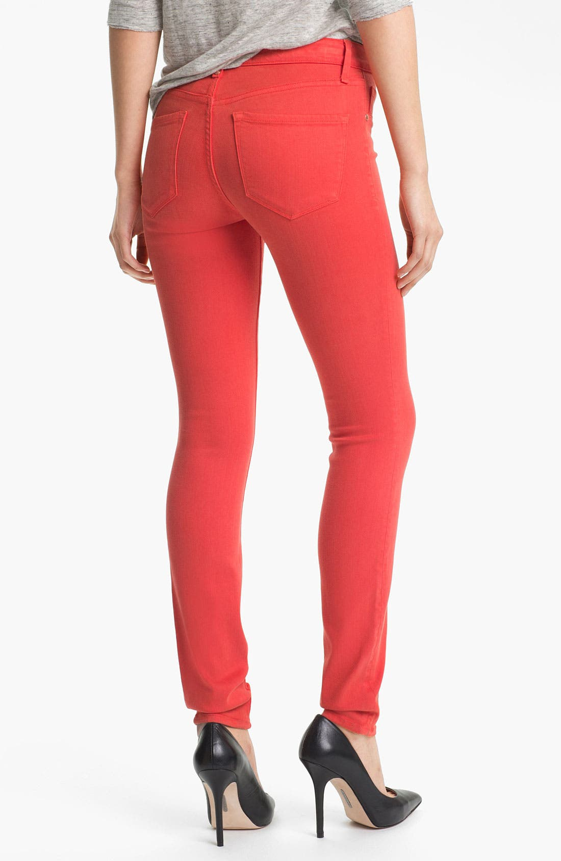 Alternate Image 2  - MARC BY MARC JACOBS 'Stick' Colored Skinny Stretch Jeans (Flamingo Red)