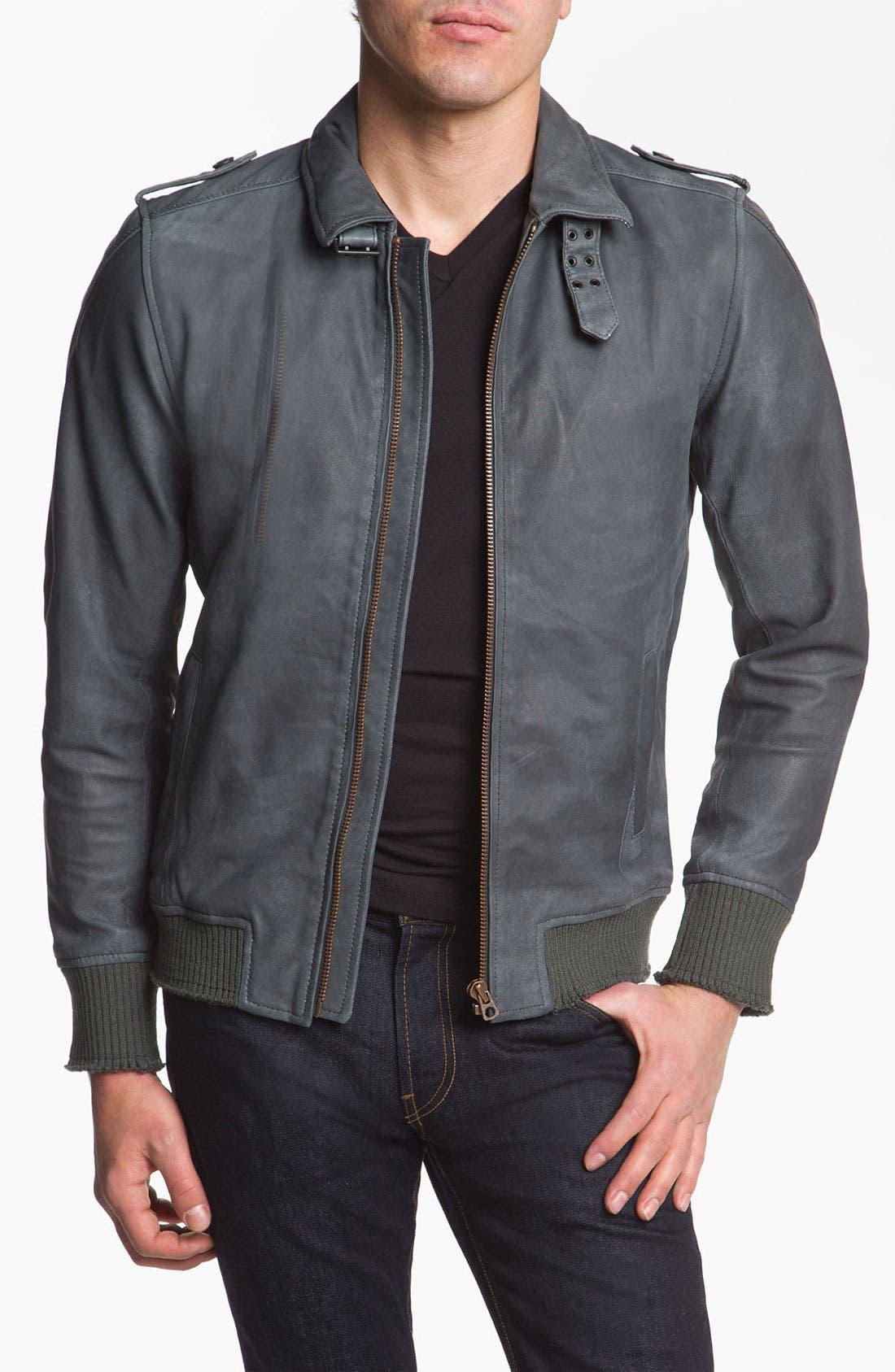 Alternate Image 1 Selected - DIESEL® 'Lacco' Leather Jacket