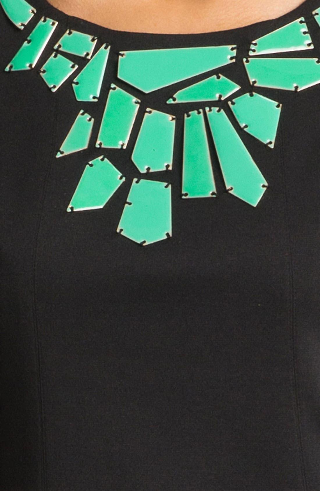 Alternate Image 3  - Vince Camuto Embellished Collar Shift Dress