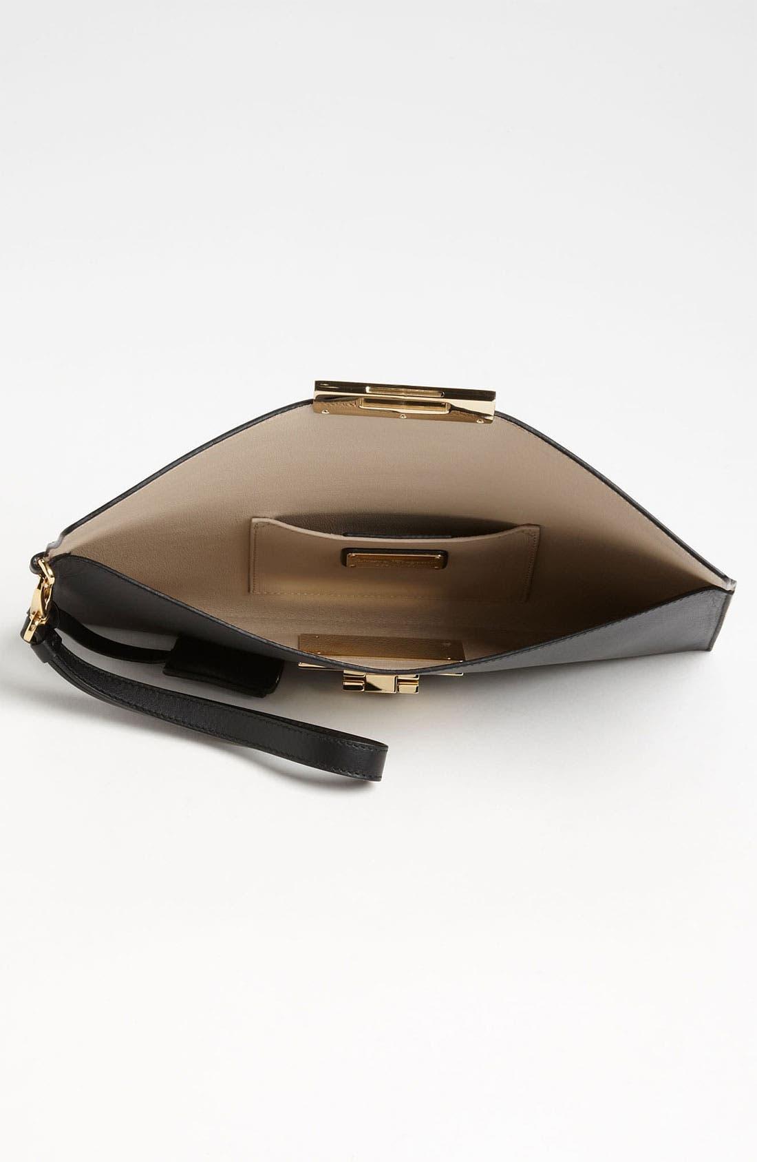 Alternate Image 3  - Salvatore Ferragamo 'Afef' Leather Envelope Clutch