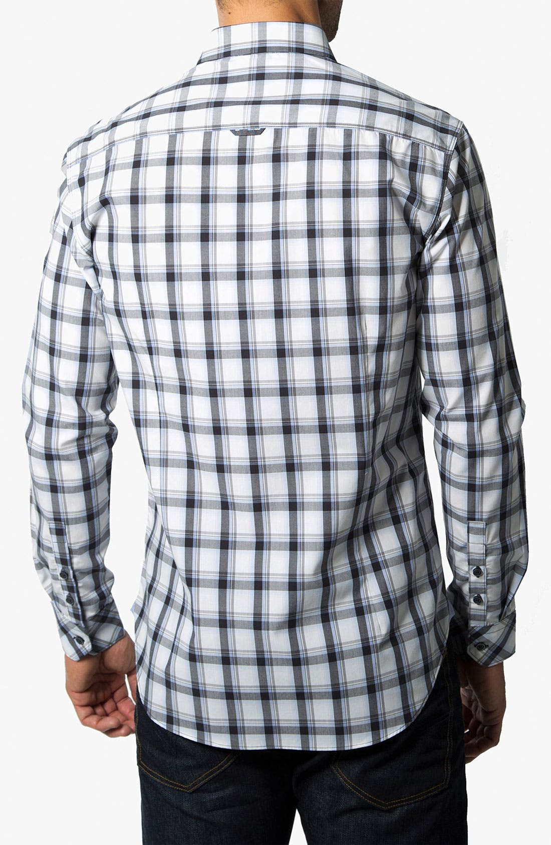 Alternate Image 2  - 7 Diamonds 'Crossroads' Check Trim Fit Cotton Sport Shirt