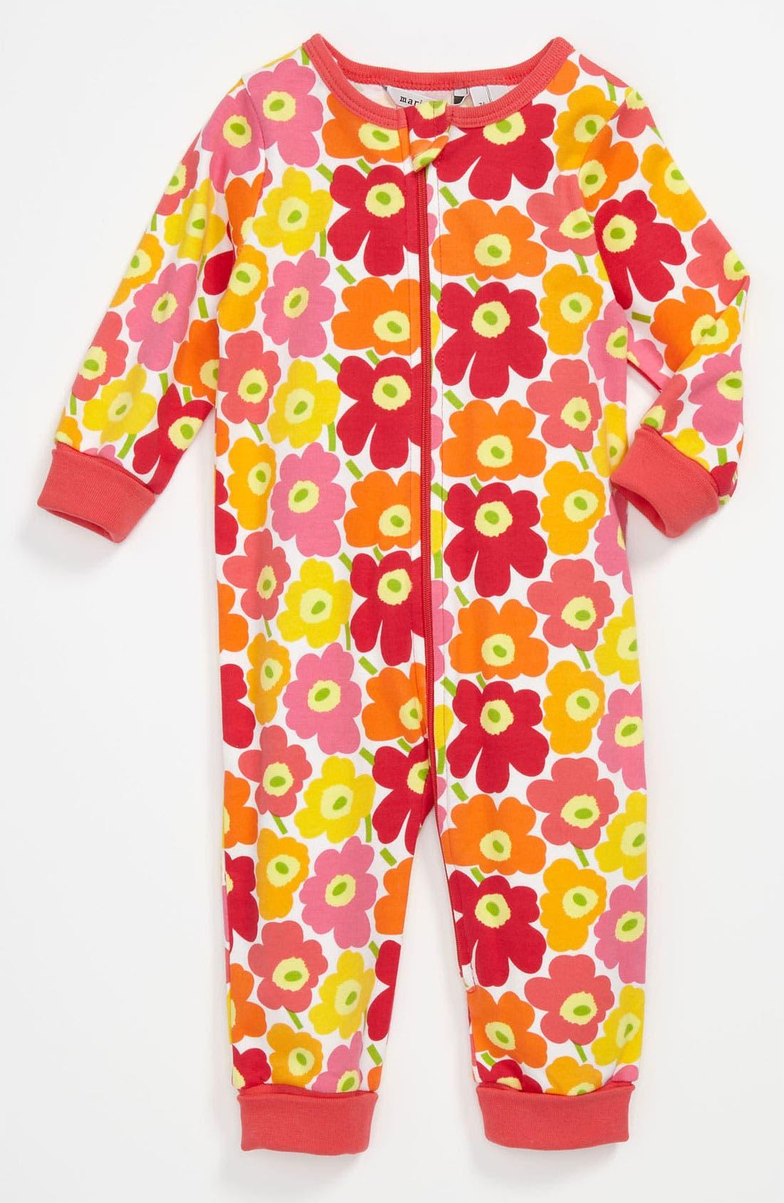 Main Image - Marimekko 'Unikko' Print Coveralls (Infant)