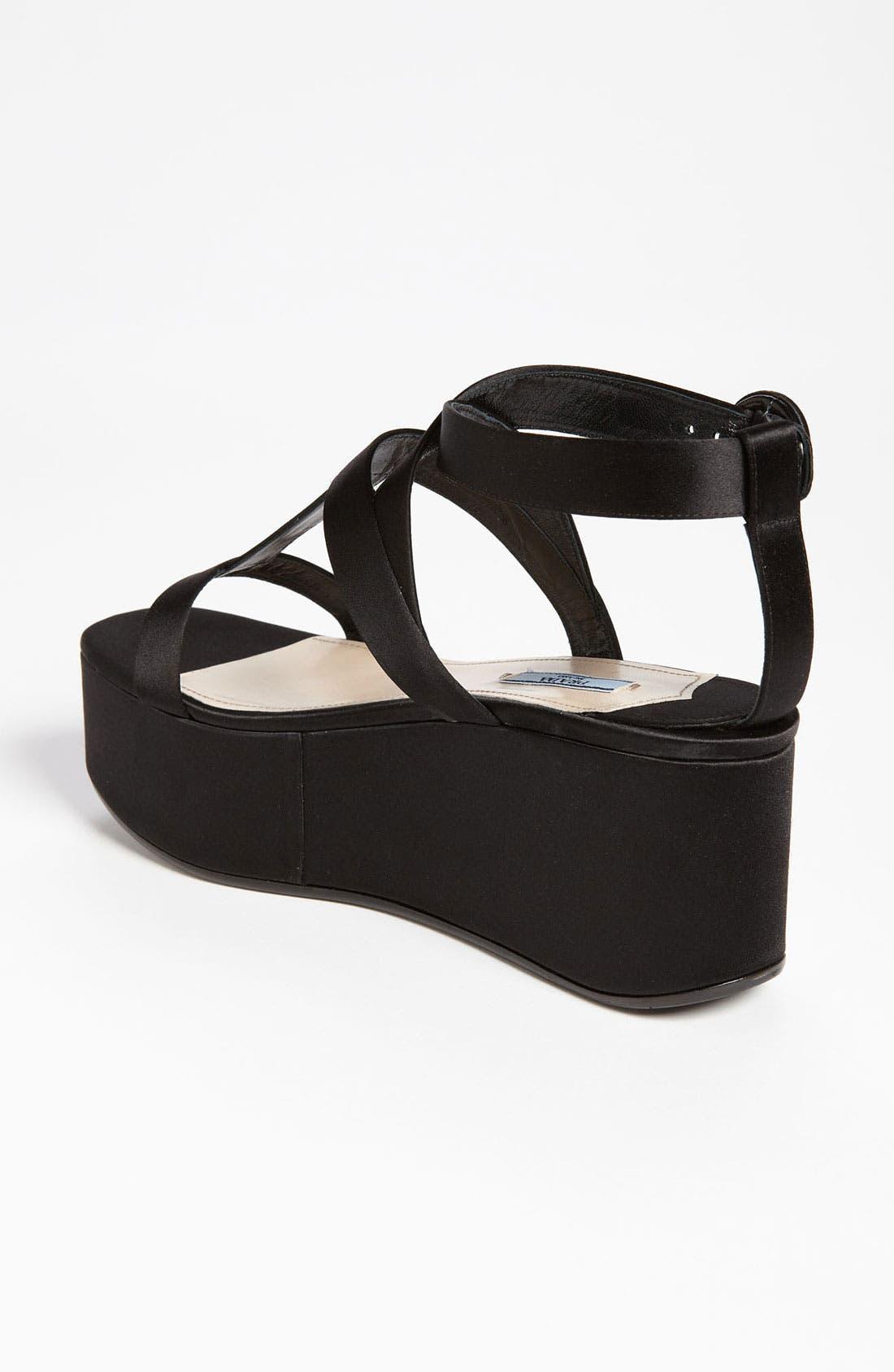 Alternate Image 2  - Prada Floral Platform Sandal