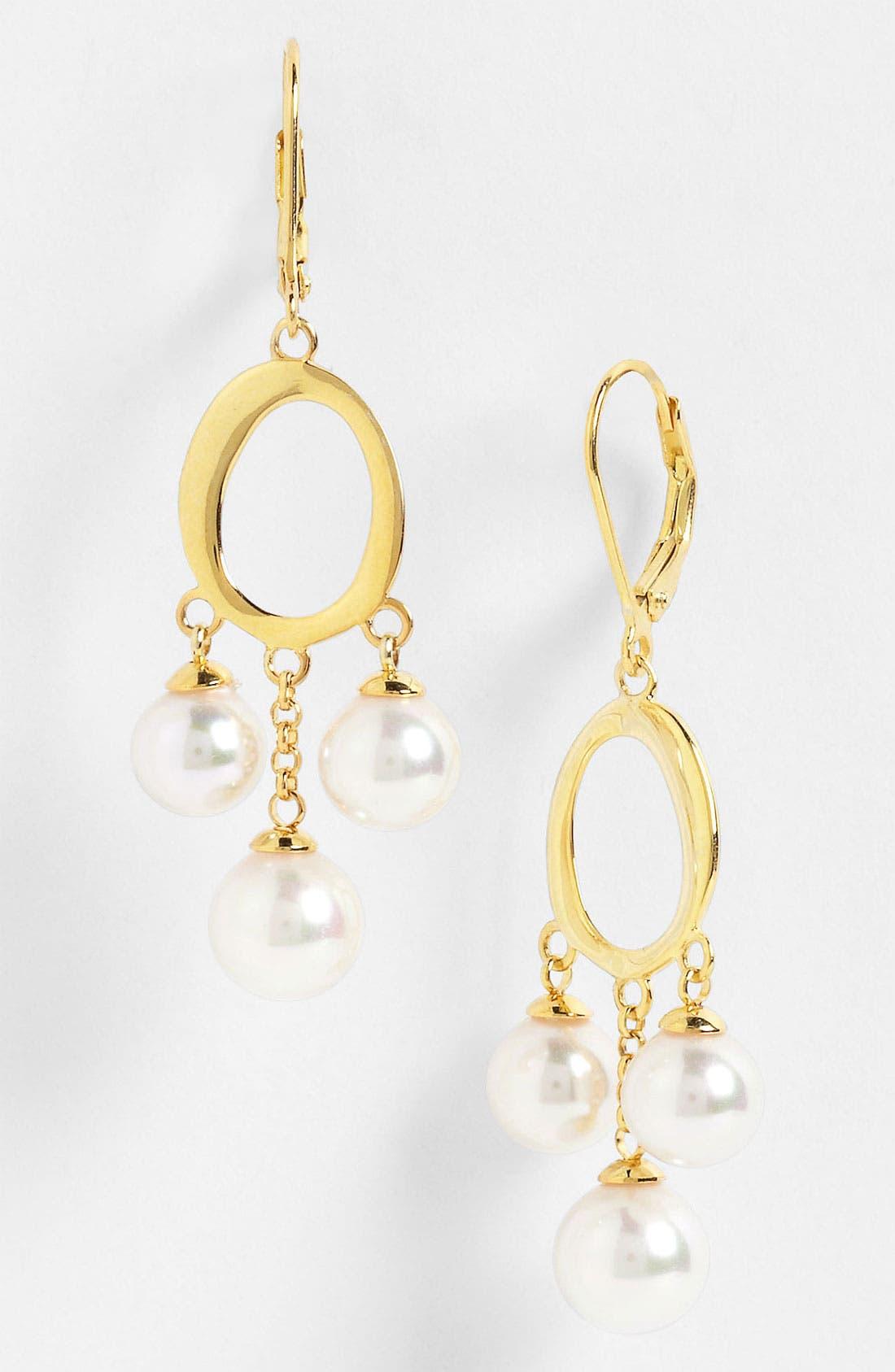 Alternate Image 1 Selected - Majorica Pearl Chandelier Earrings