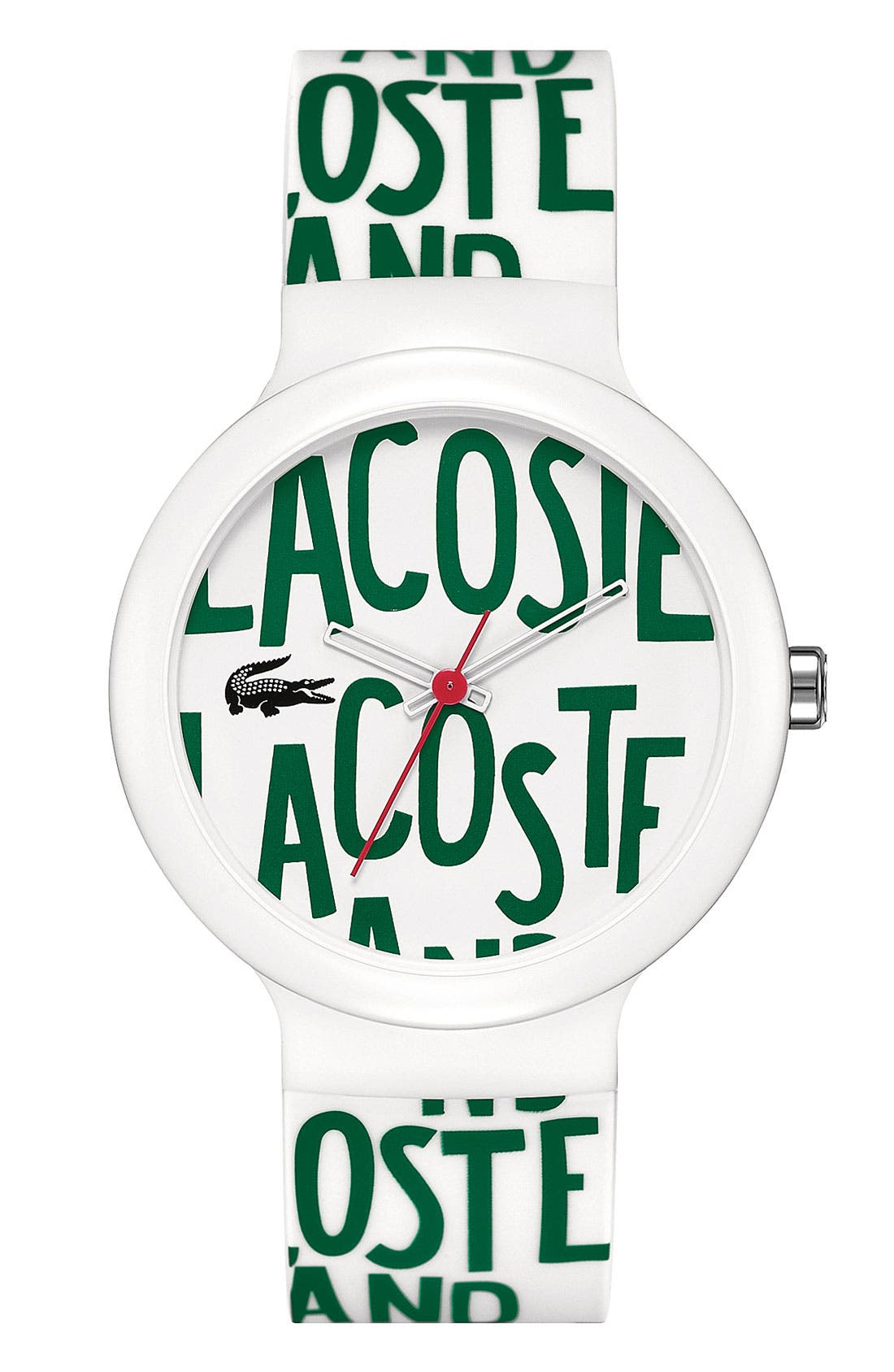 Alternate Image 1 Selected - Lacoste 'Goa' Round Logo Watch, 40mm