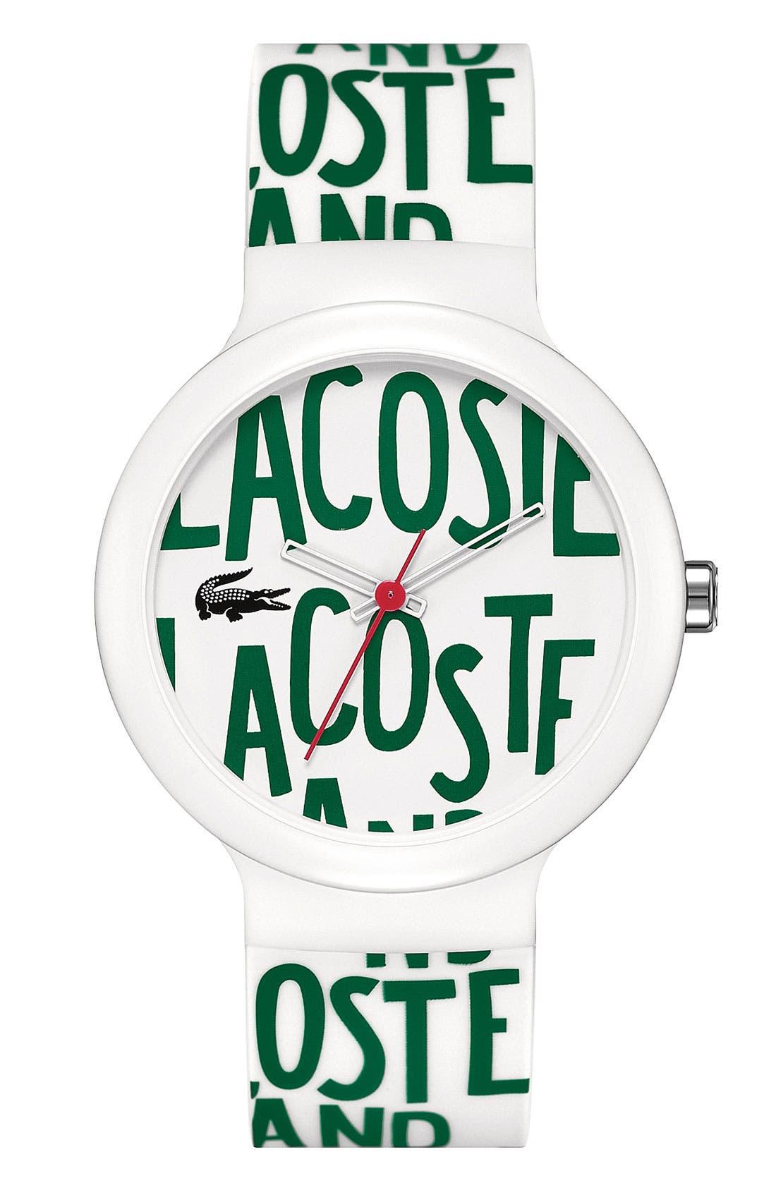 Main Image - Lacoste 'Goa' Round Logo Watch, 40mm