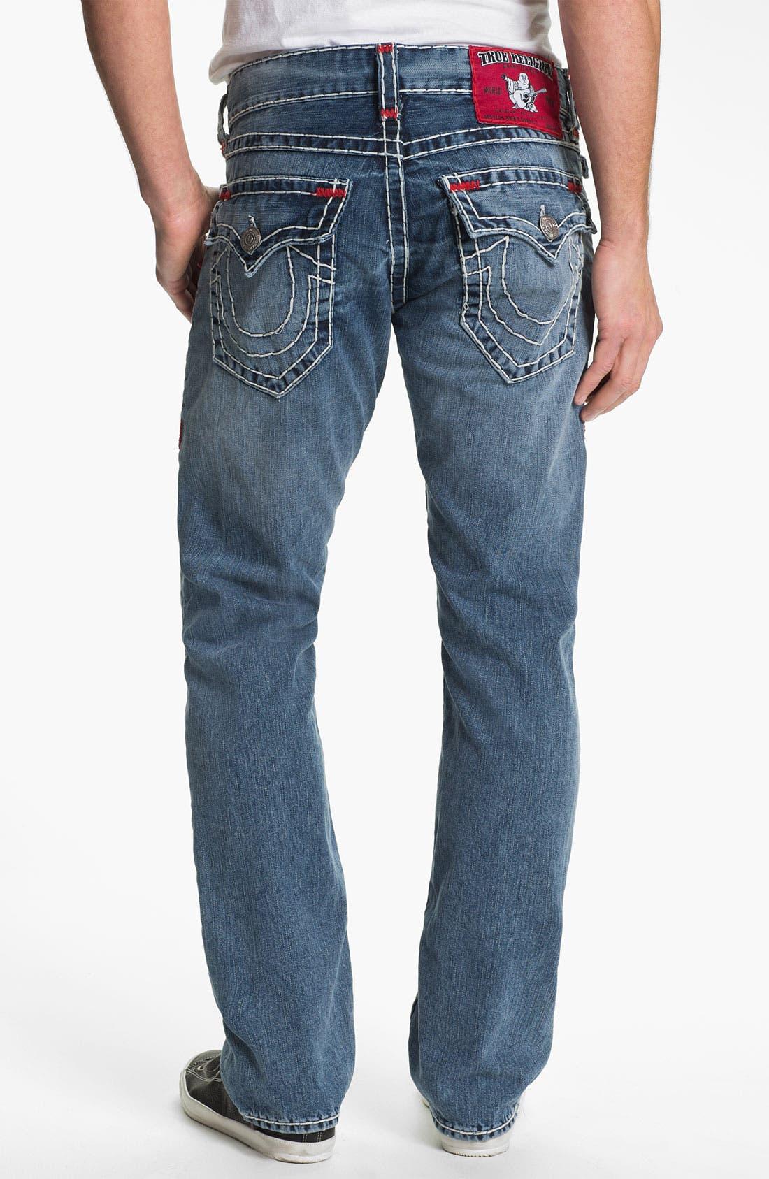 Main Image - True Religion Brand Jeans 'Ricky' Straight Leg Jeans (Shade Horizons)