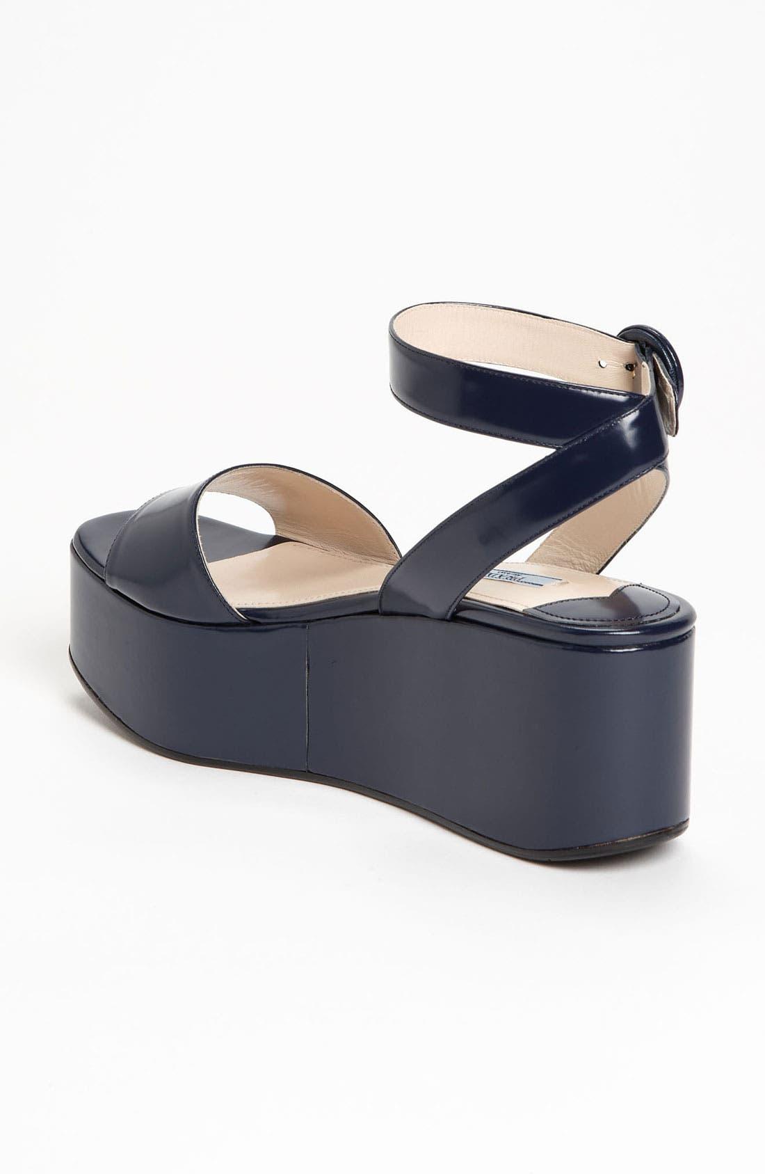 Alternate Image 2  - Prada Ankle Strap Wedge Sandal