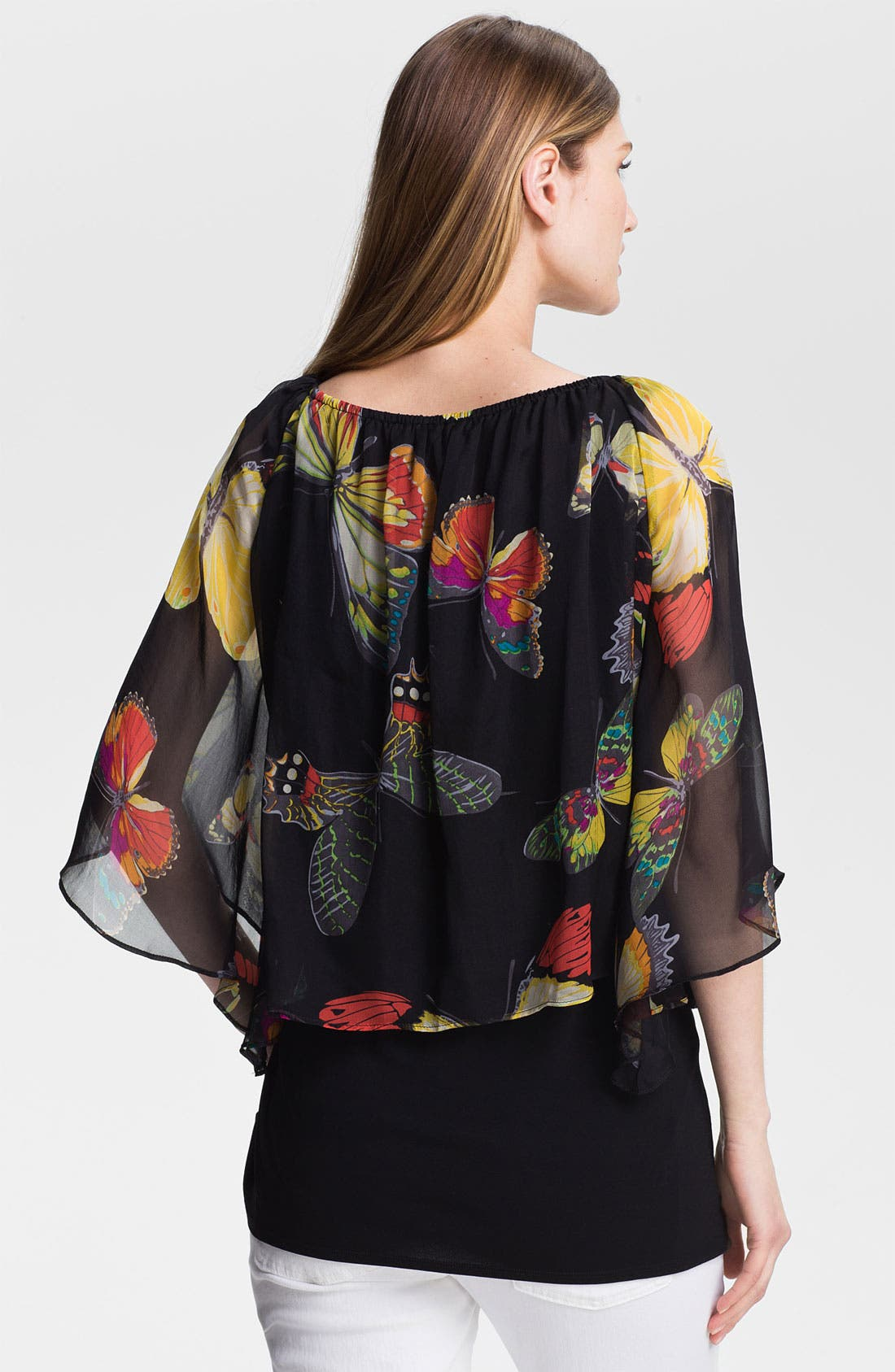 Alternate Image 2  - Alberto Makali Butterfly Print Silk Blouse