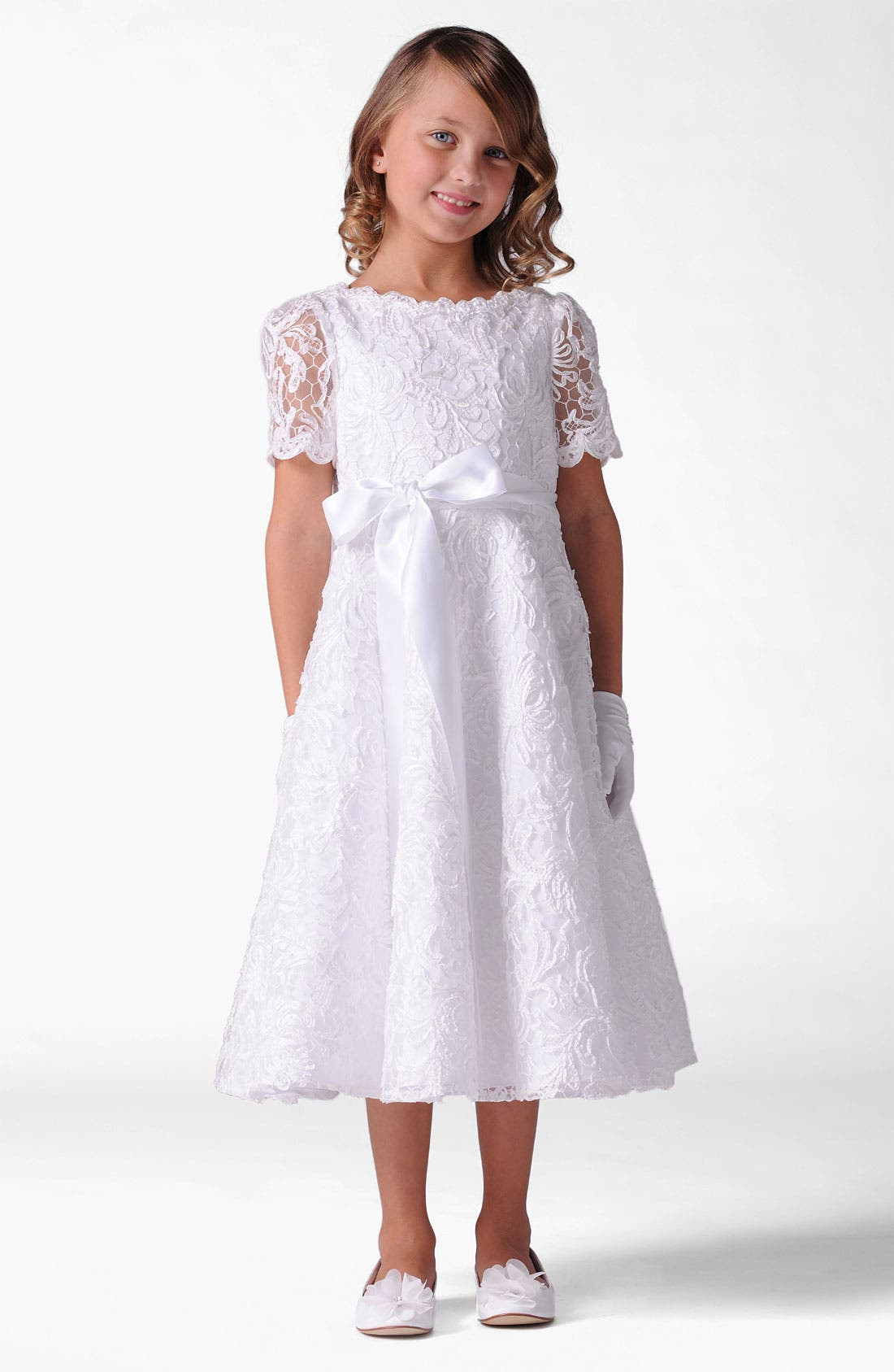Main Image - Us Angels Lace Dress (Little Girls & Big Girls)