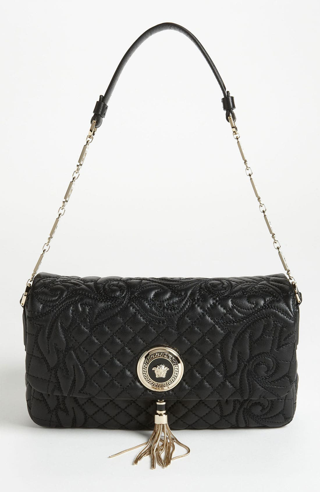 Main Image - Versace 'Vanitas - Small' Embroidered Leather Shoulder Bag