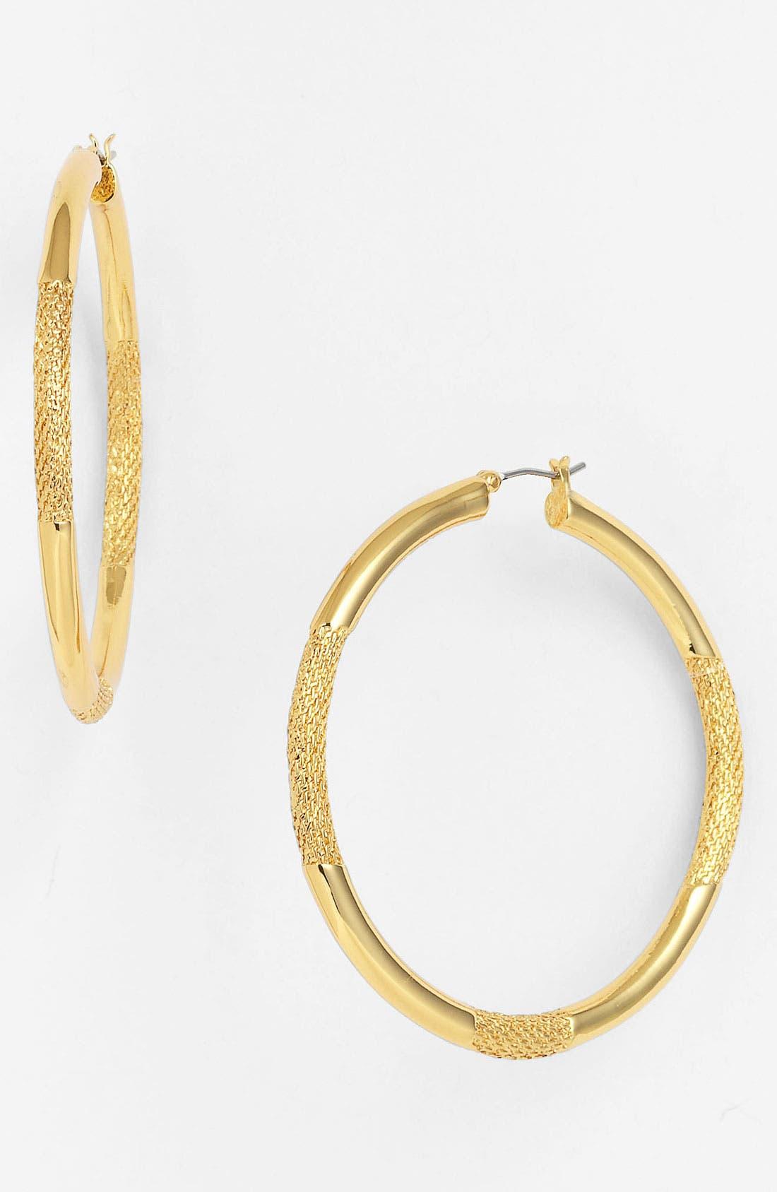 Alternate Image 1 Selected - Vince Camuto 'Clean Slate' Hoop Earrings