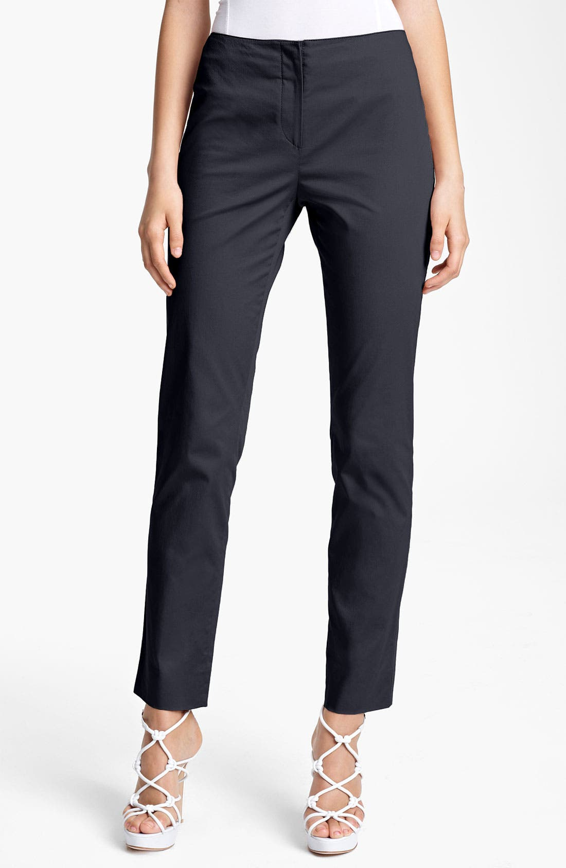Alternate Image 1 Selected - Armani Collezioni Stretch Cotton Pants