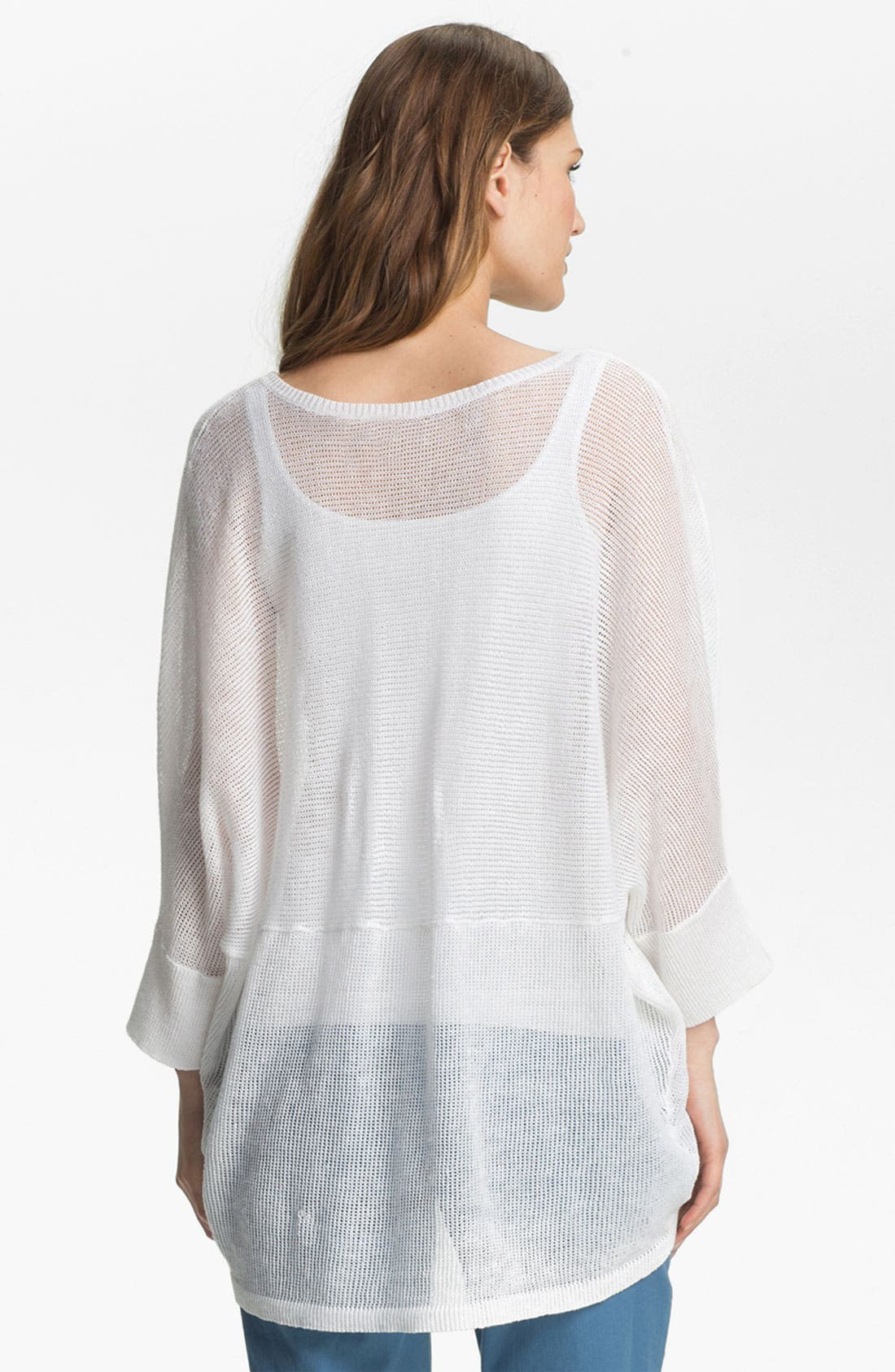 Alternate Image 2  - Eileen Fisher V-Neck Mesh Sweater (Online Exclusive)