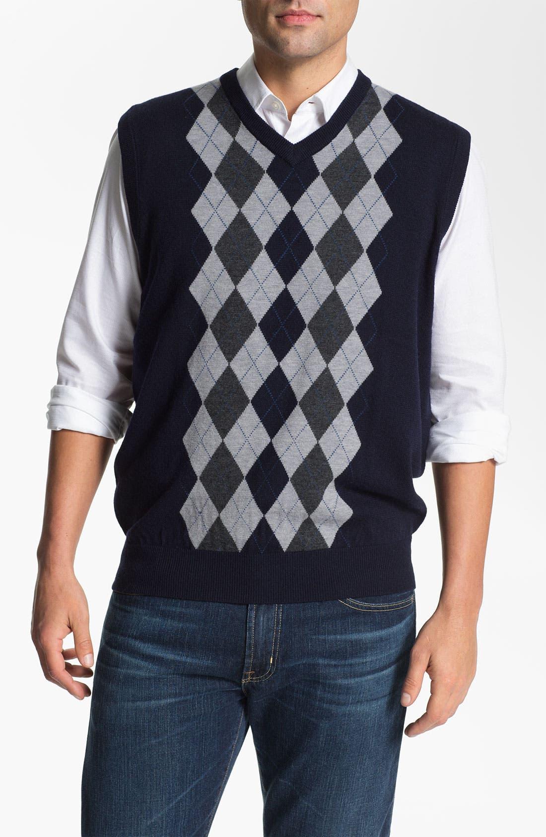 Alternate Image 1 Selected - Toscano V-Neck Wool Blend Sweater Vest