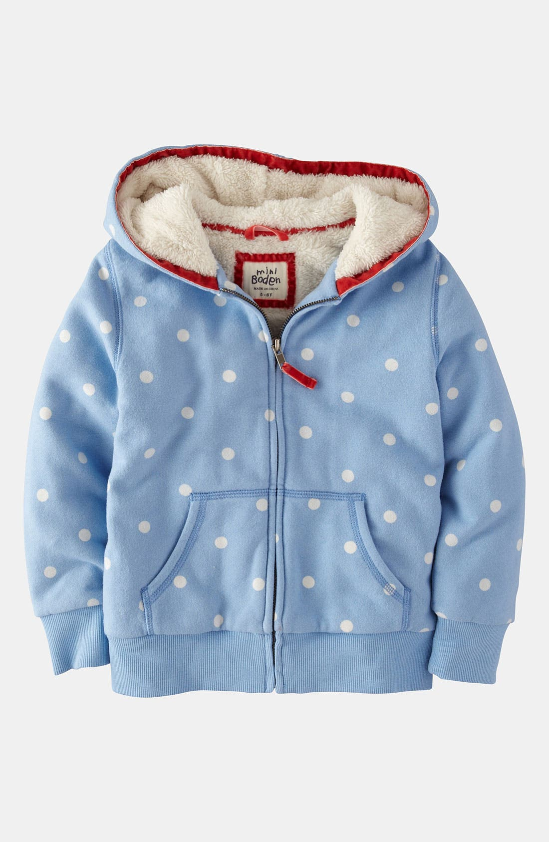 Alternate Image 1 Selected - Mini Boden 'Shaggy' Hoodie (Toddler, Little Girls & Big Girls)