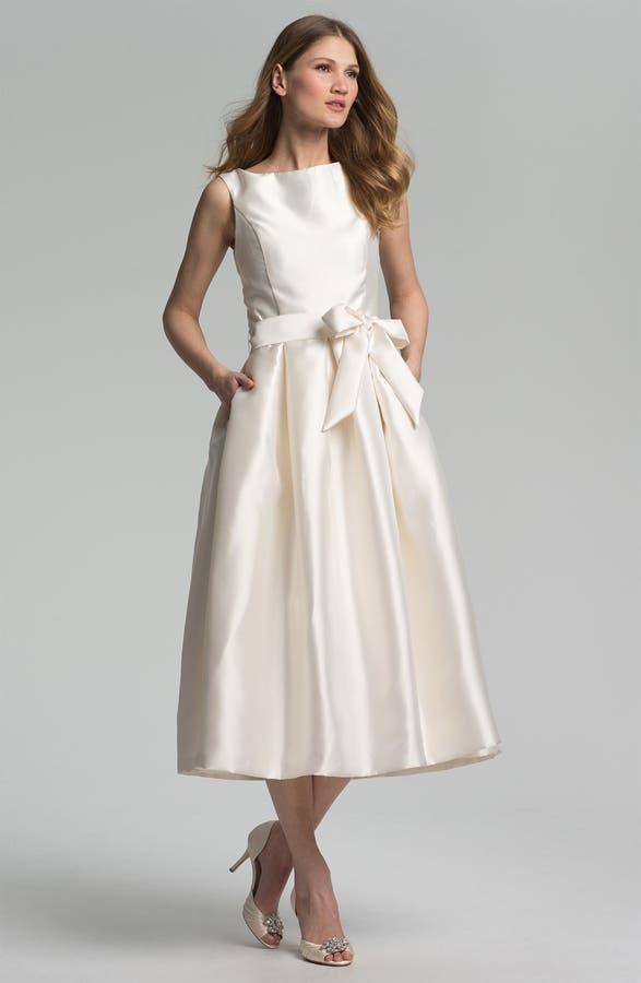 Isaac Mizrahi New York Faille Satin Fit & Flare Dress   Nordstrom