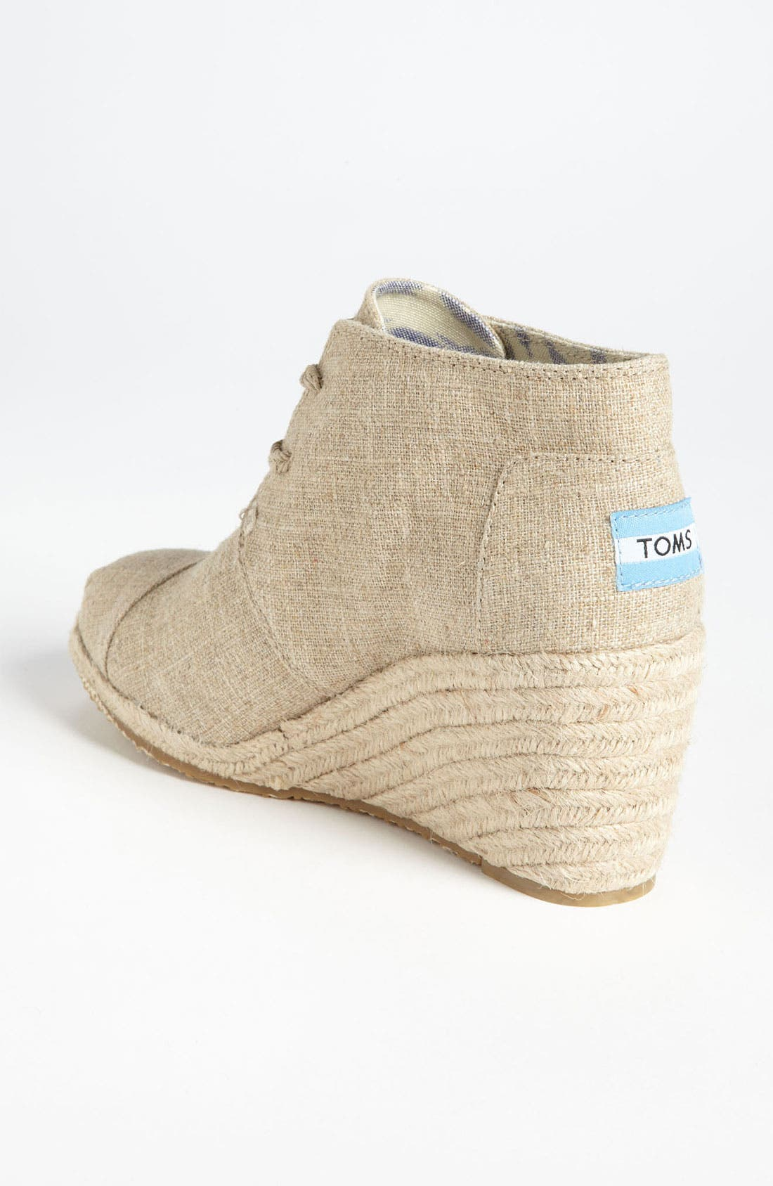 Alternate Image 2  - TOMS 'Desert' Burlap Wedge Bootie