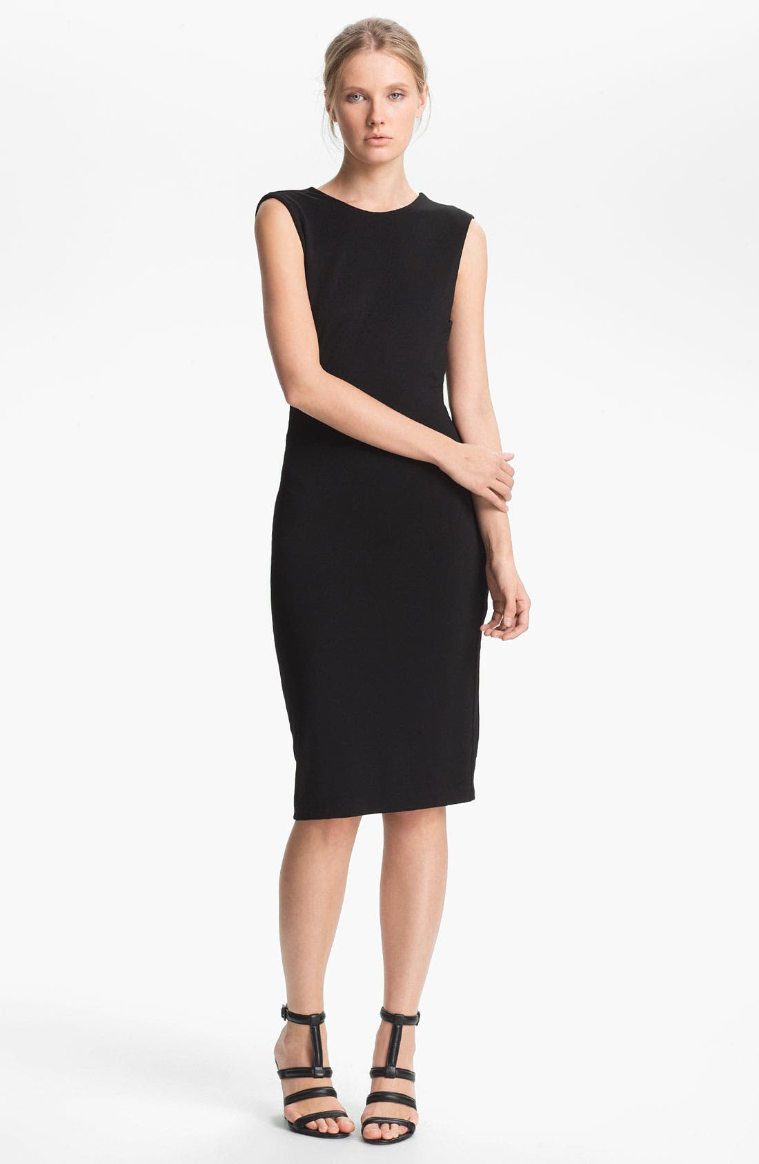 Alternate Image 1 Selected - T by Alexander Wang Drape Back Jersey Dress