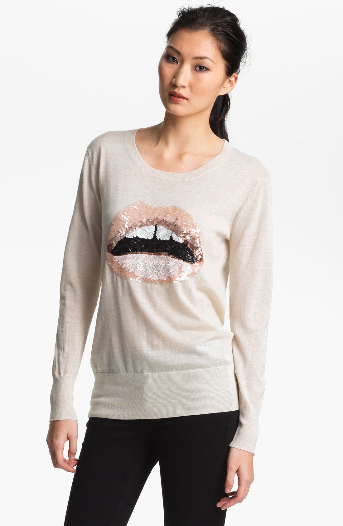 Alternate Image 1 Selected - Markus Lupfer Sequin Lip Sweater