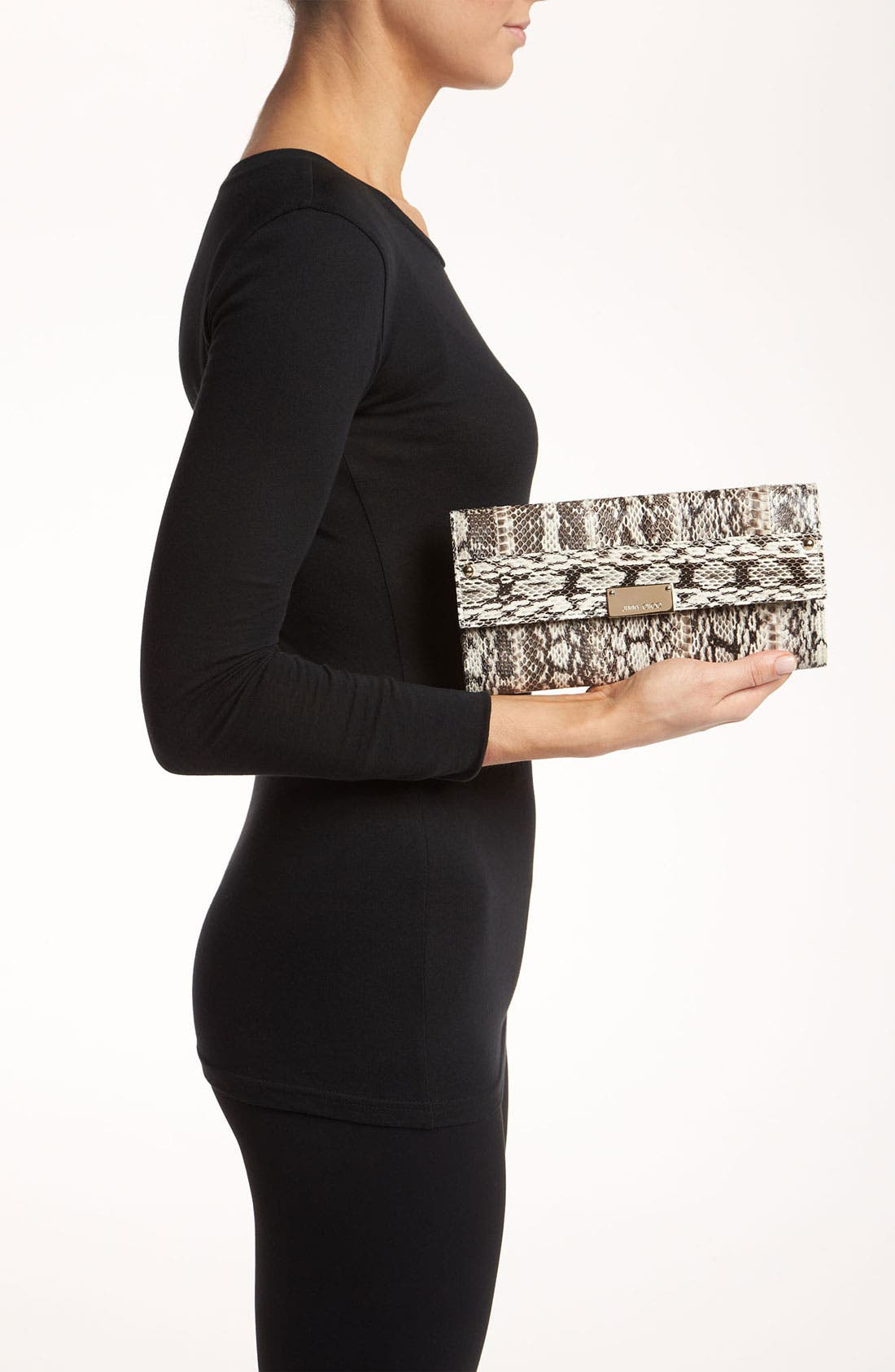 Alternate Image 2  - Jimmy Choo 'Reese' Genuine Snakeskin Clutch