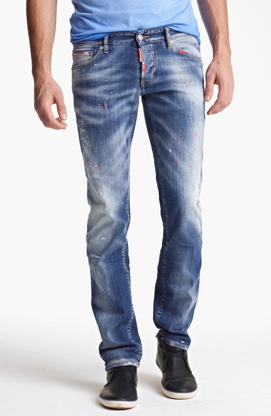 Alternate Image 1 Selected - Dsquared2 Slim Fit Jeans (Blue)