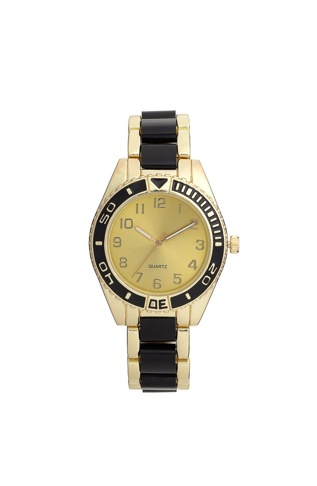 Main Image - Titanium 'Black & Gold' Oversized Watch