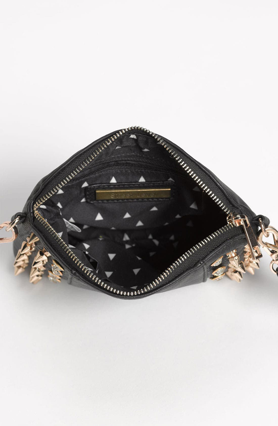 Alternate Image 3  - Street Level Stud & Rhinestone Convertible Clutch