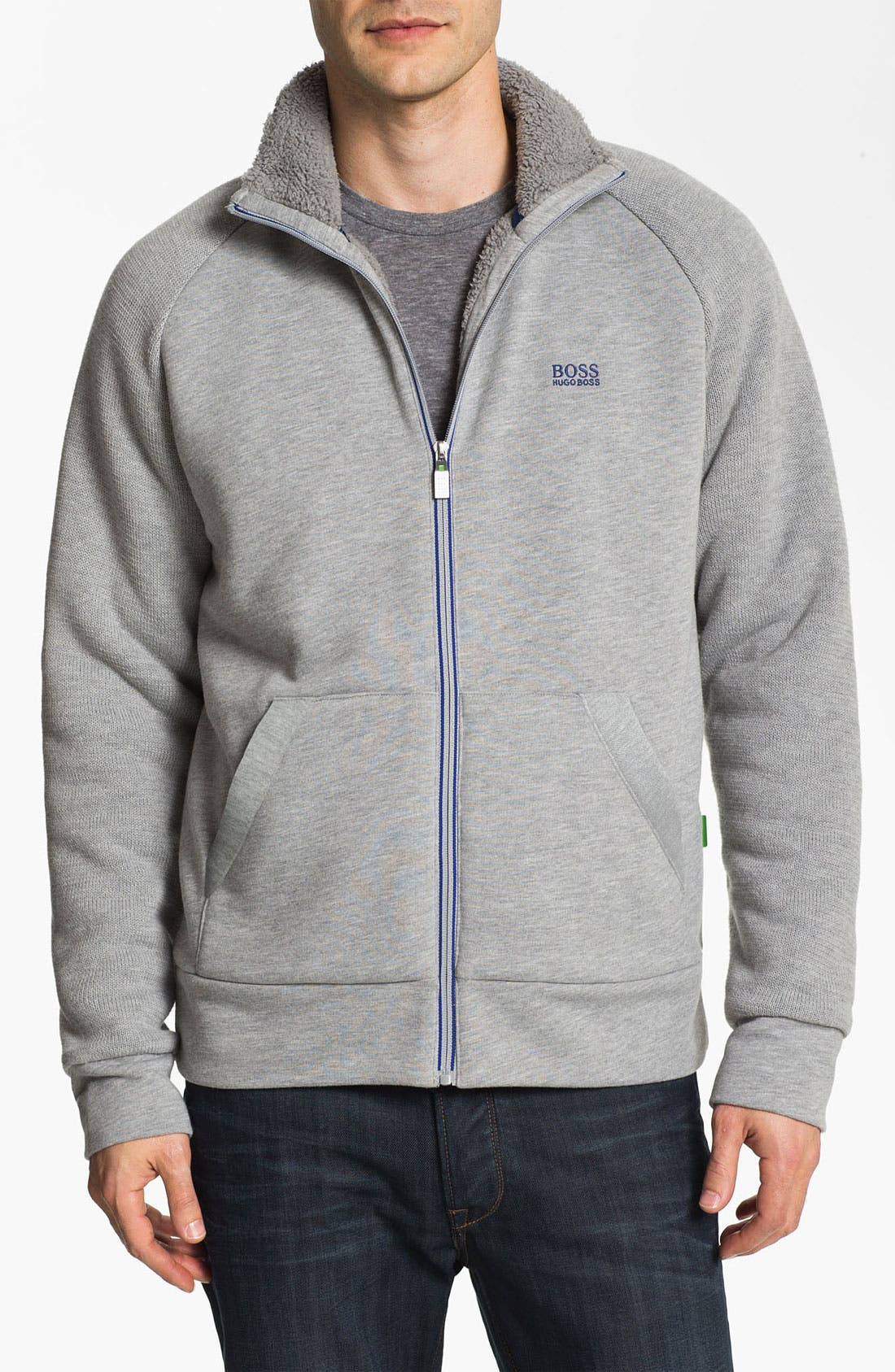 Main Image - BOSS Green 'Skuddel' Zip Fleece
