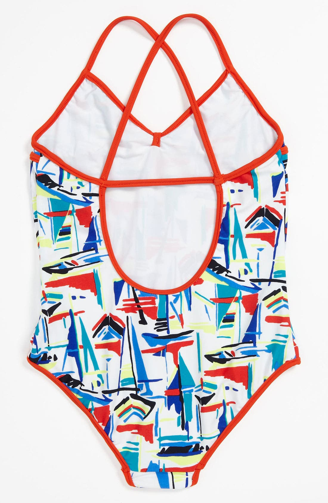 Alternate Image 2  - Milly Minis One Piece Swimsuit (Little Girls)