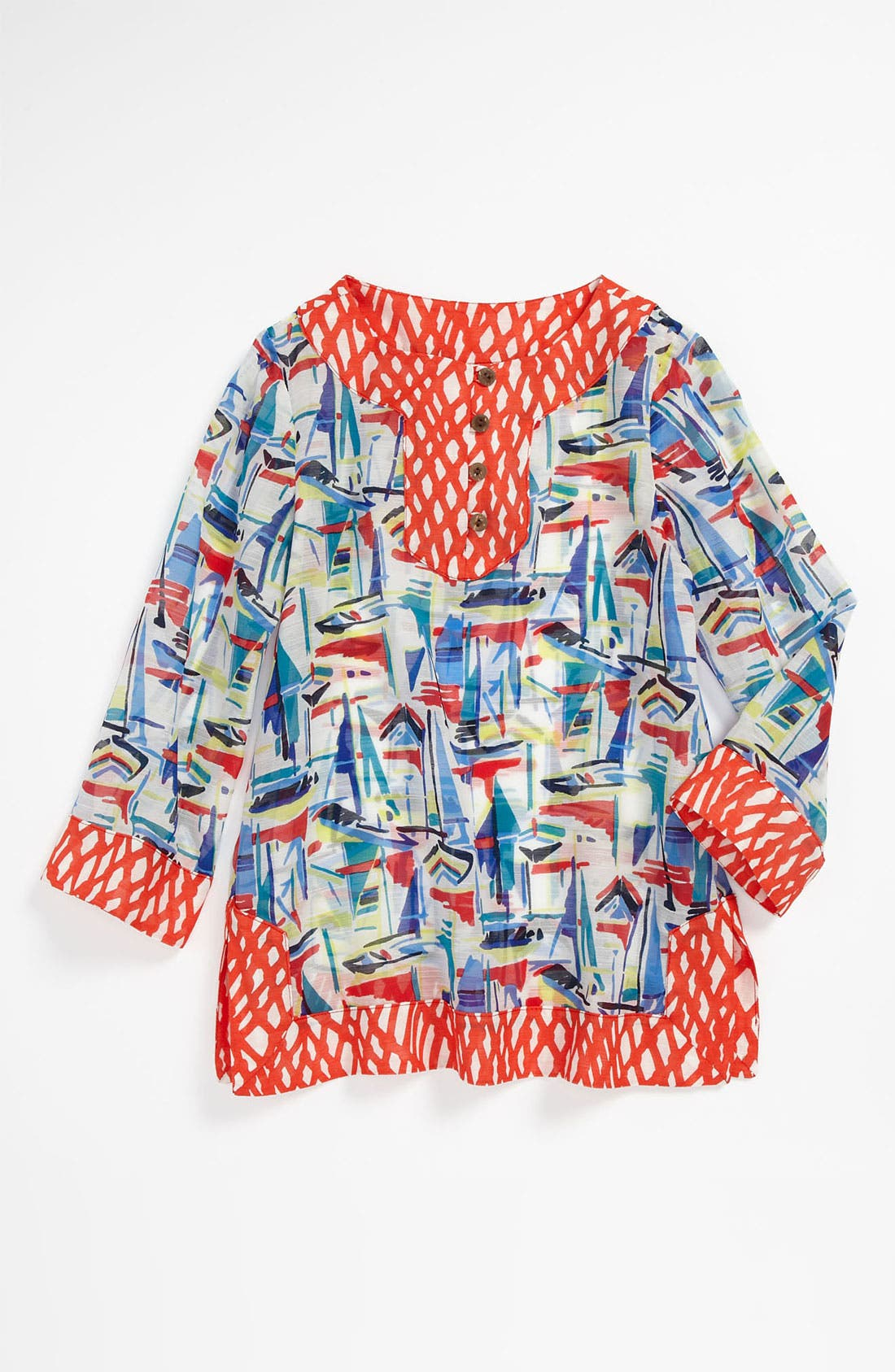 Alternate Image 1 Selected - Milly Minis Tunic Cover-Up (Little Girls)