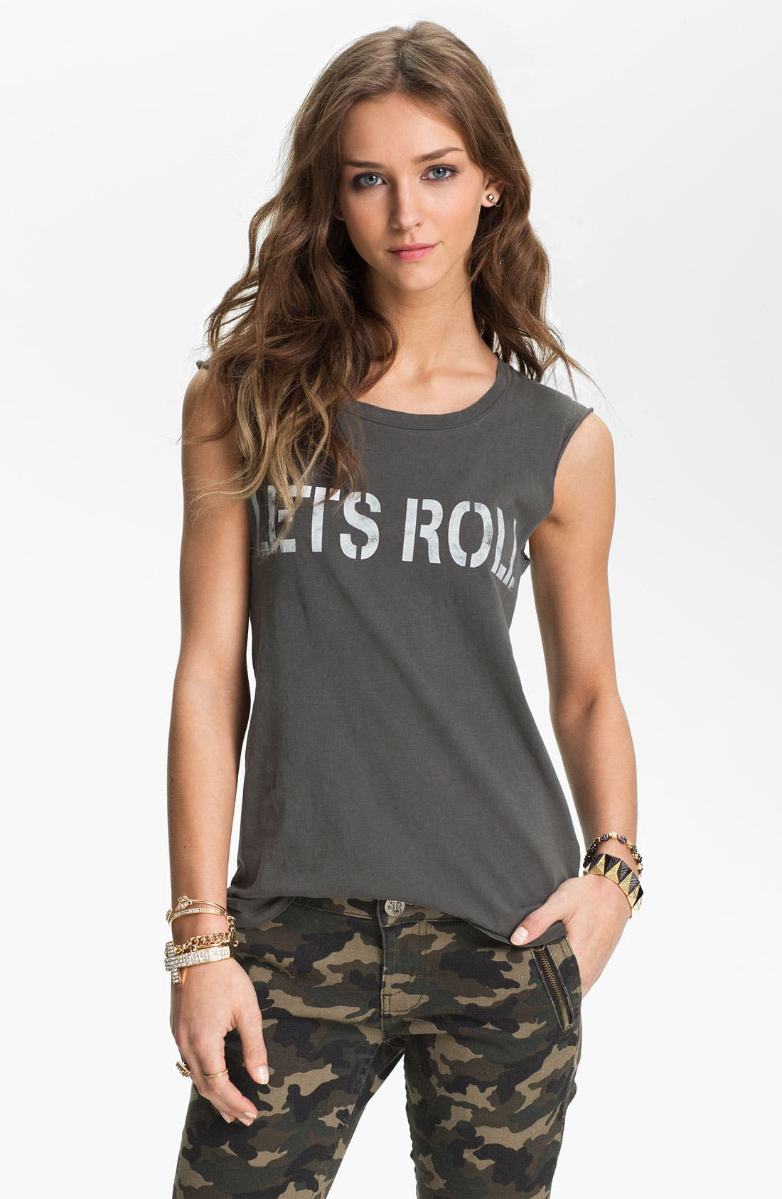 Alternate Image 1 Selected - Project Social T 'Let's Roll' Graphic Tank (Juniors)