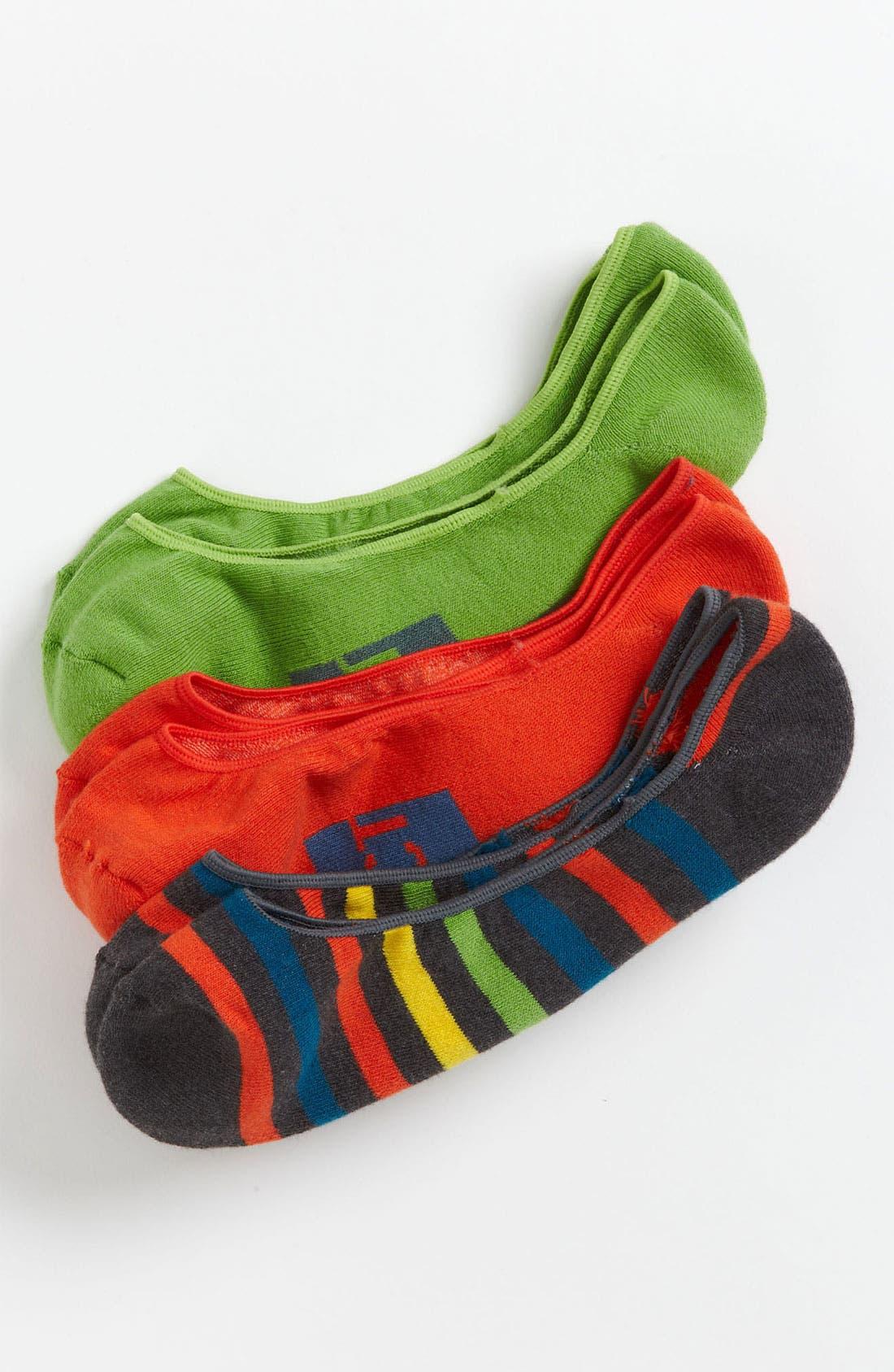 Main Image - Pact 'Farm' No-Show Socks (3-Pack) (Men)