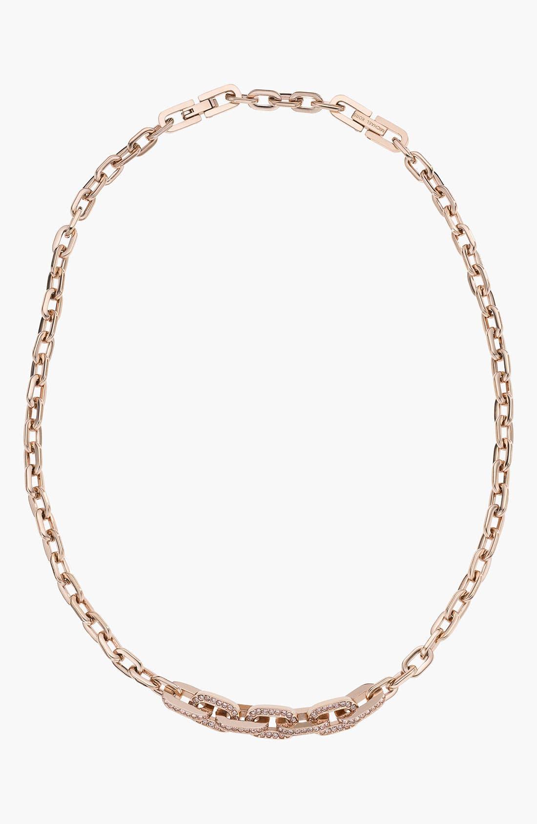 Alternate Image 1 Selected - Michael Kors Pavé Link Necklace
