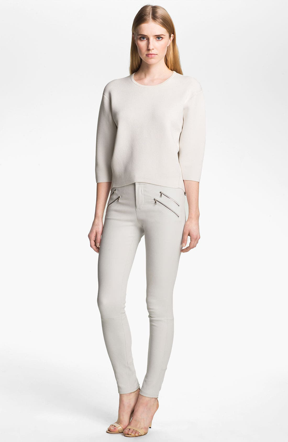 Alternate Image 3  - J Brand Ready-to-Wear 'Claudette' Stretch Leather Pants