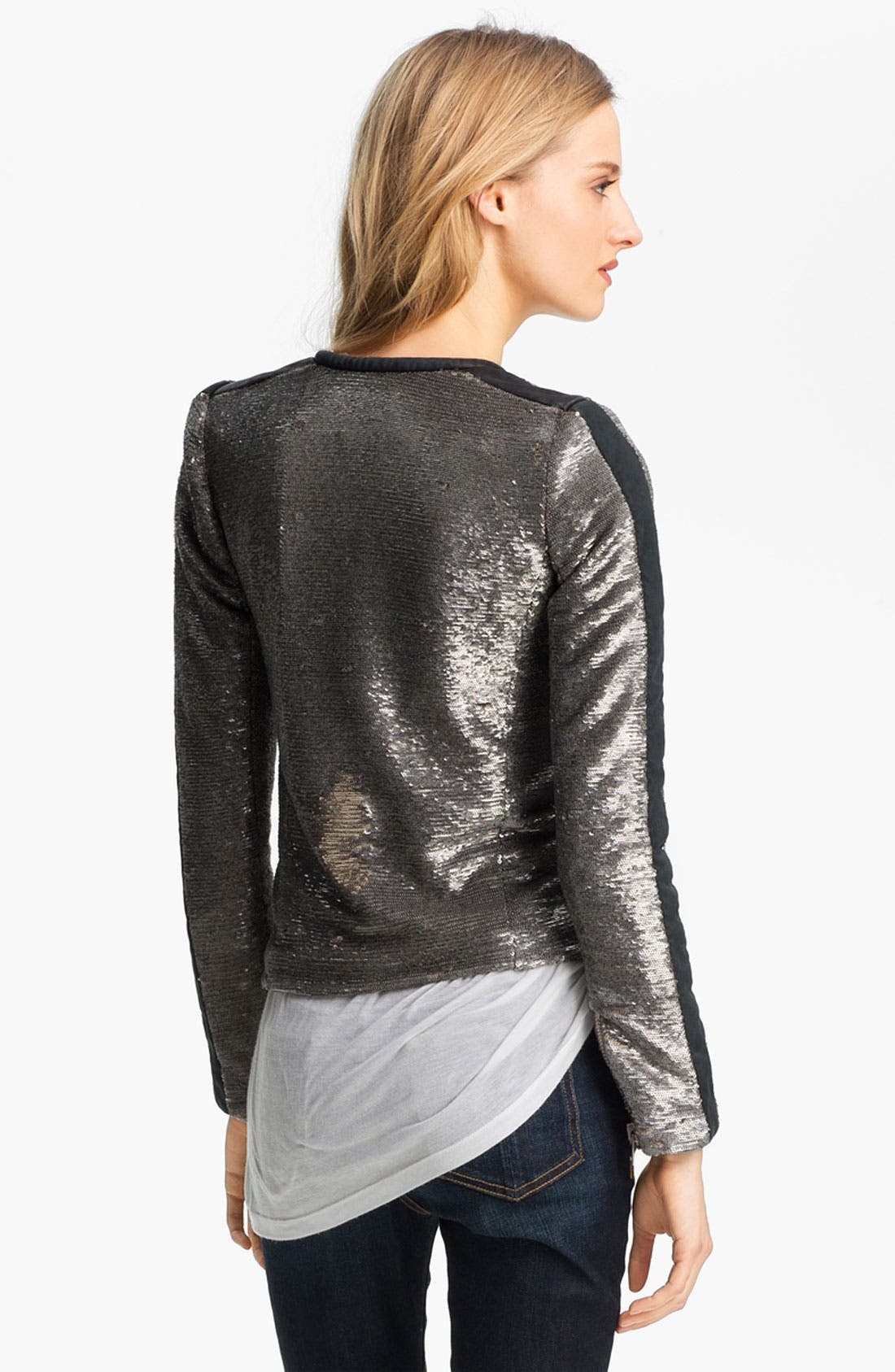 Alternate Image 4  - IRO Collarless Sequin Jacket