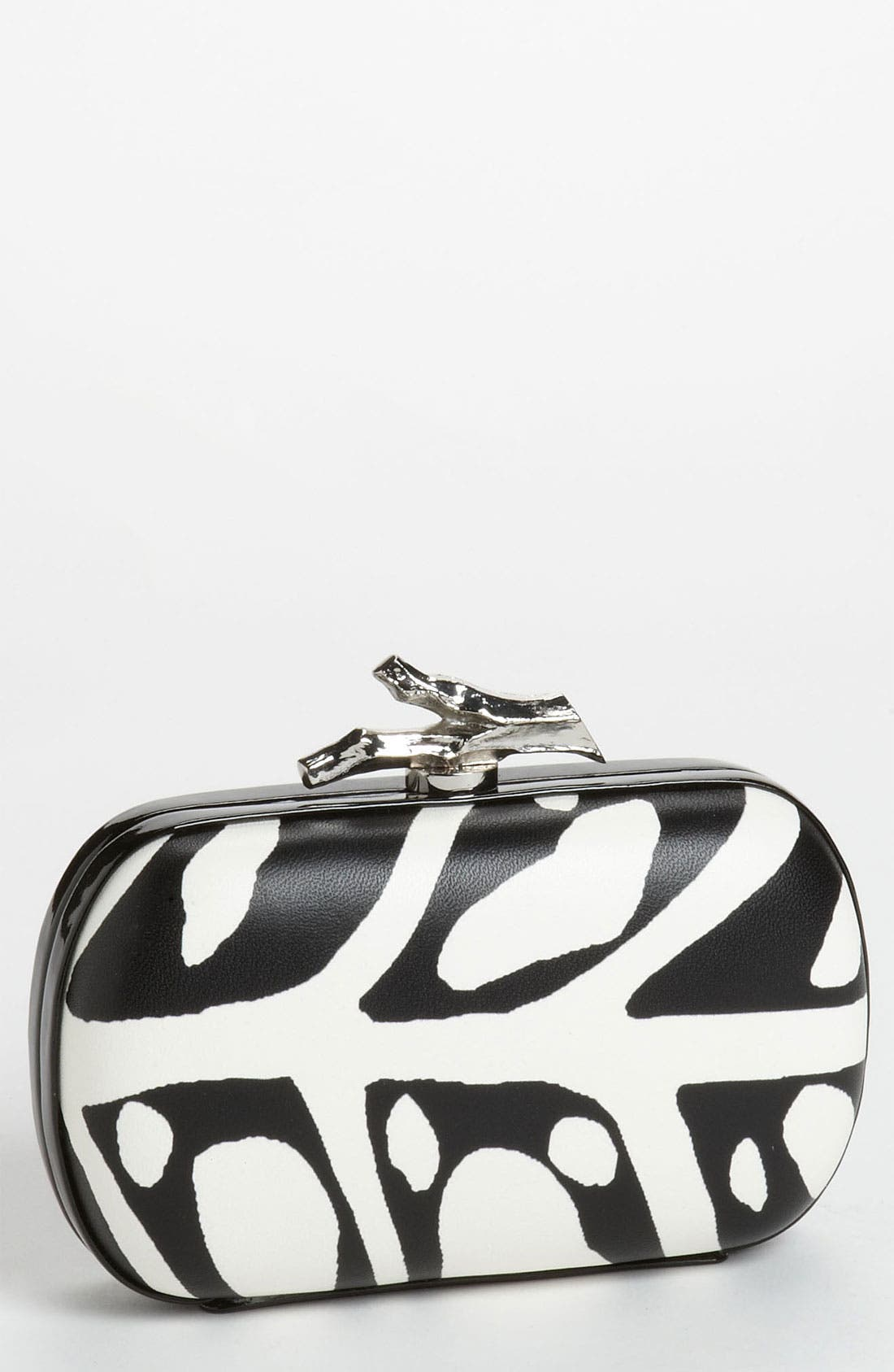 Alternate Image 1 Selected - Diane von Furstenberg 'Lytton' Printed Leather Clutch
