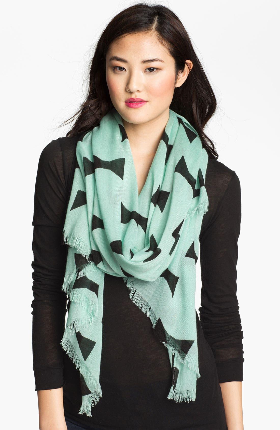 Main Image - kate spade new york 'bow tie - large' scarf