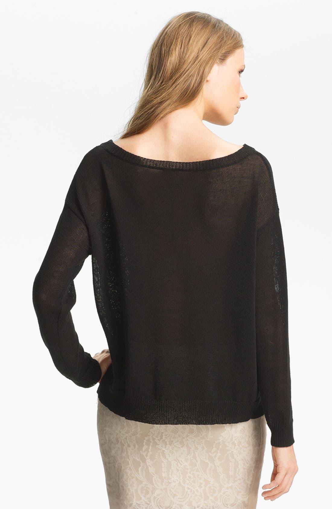 Alternate Image 3  - Haute Hippie Lace Inset Sweater
