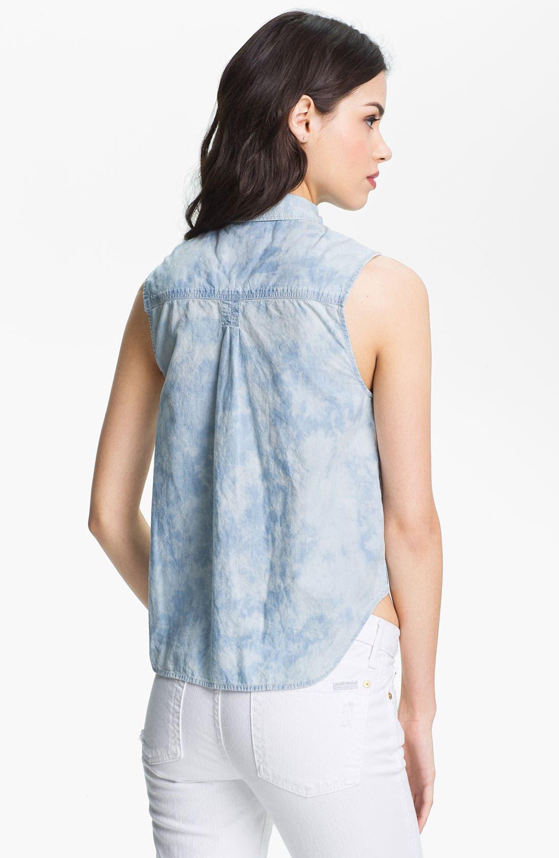 Alternate Image 2  - Maison Scotch 'Arch' Tie Dye Chambray Sleeveless Shirt