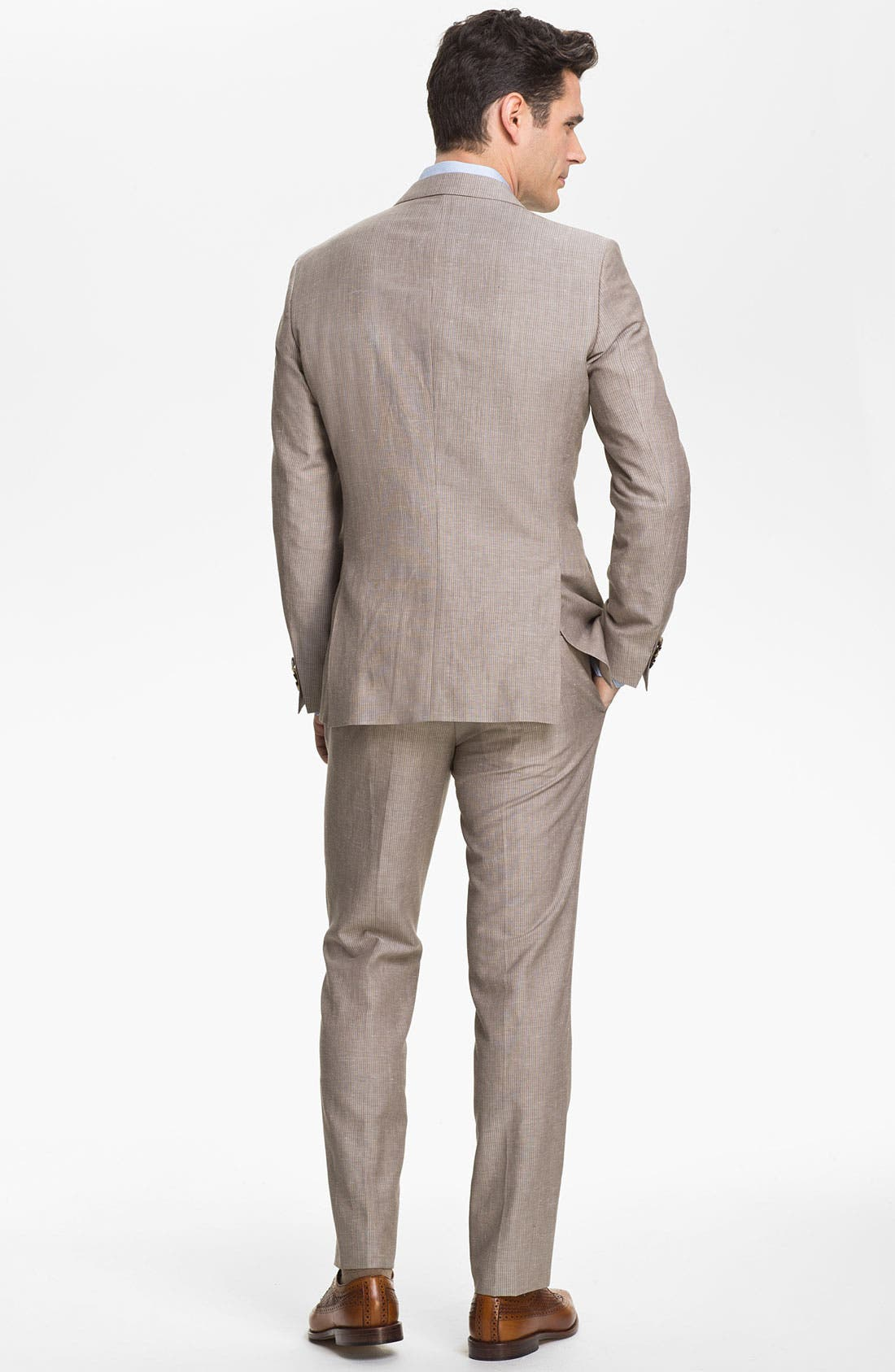 Alternate Image 3  - BOSS Black 'Hedge/Gense' Trim Fit Stripe Suit