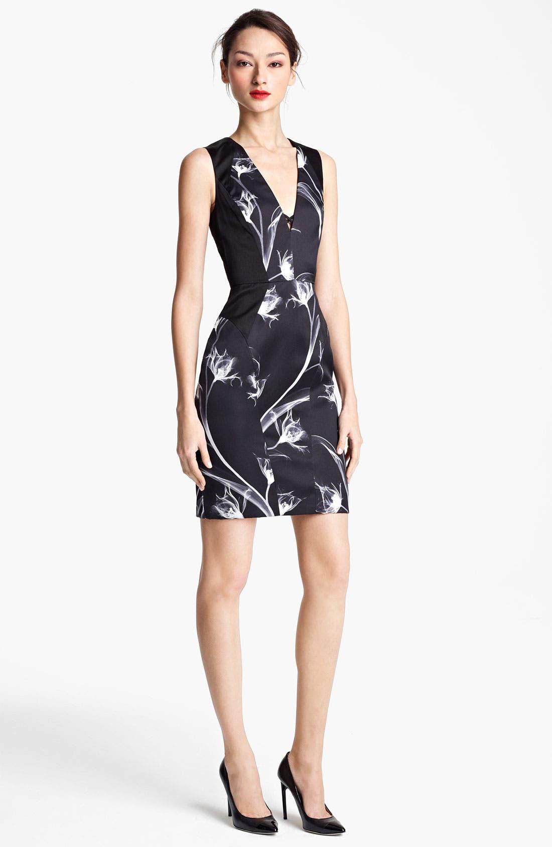Alternate Image 2  - Jason Wu Floral Print Silk Sheath Dress