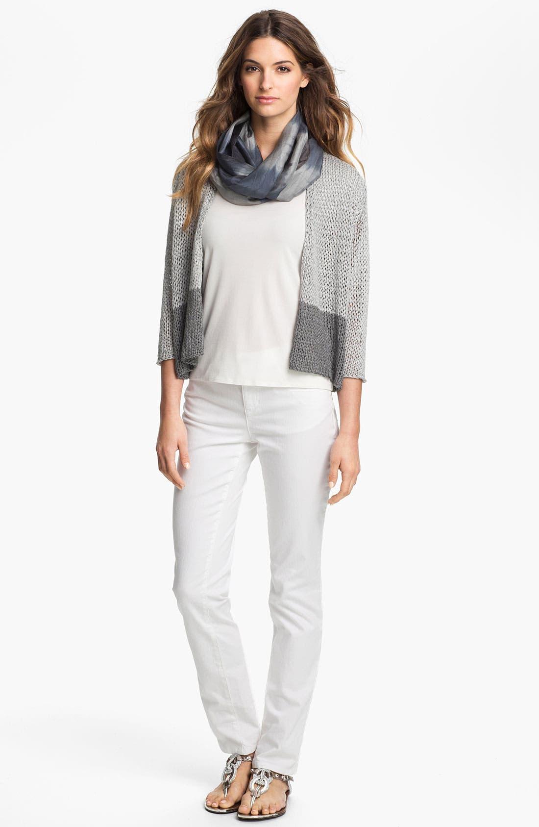 Alternate Image 3  - Eileen Fisher White Denim Jeans