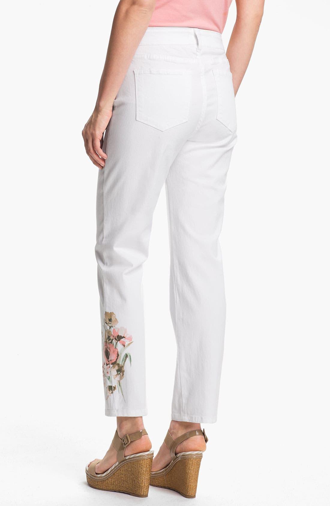 Alternate Image 2  - NYDJ 'Alisha - Placed Print' Skinny Stretch Ankle Jeans