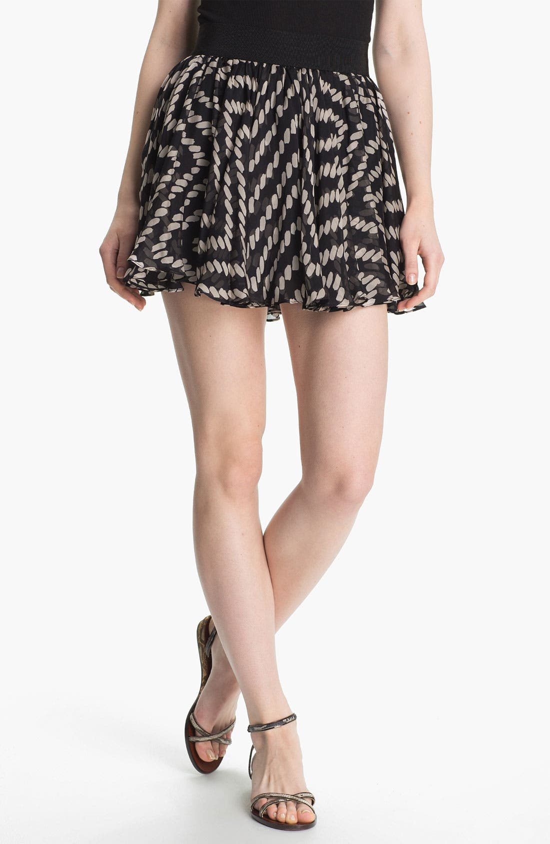 Alternate Image 1 Selected - Milly Silk Circle Miniskirt
