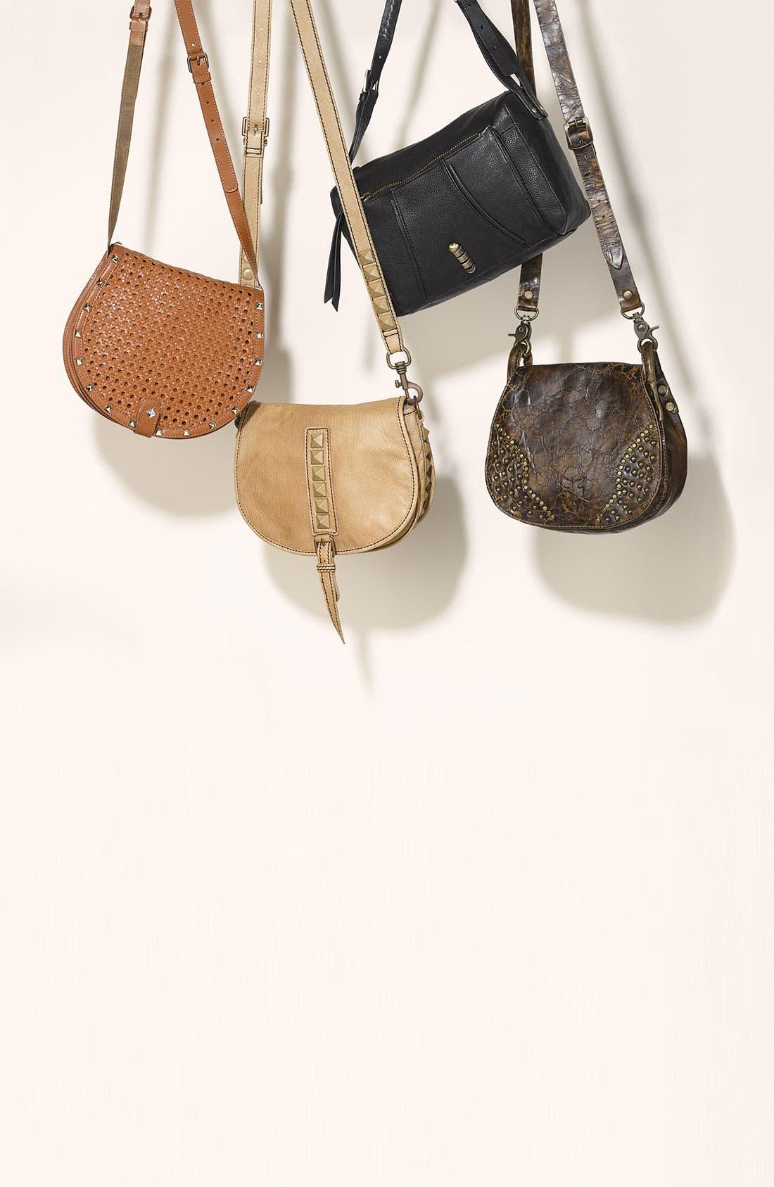 Alternate Image 5  - Rebecca Minkoff 'Skylar - Wicker Woven' Leather Crossbody Bag