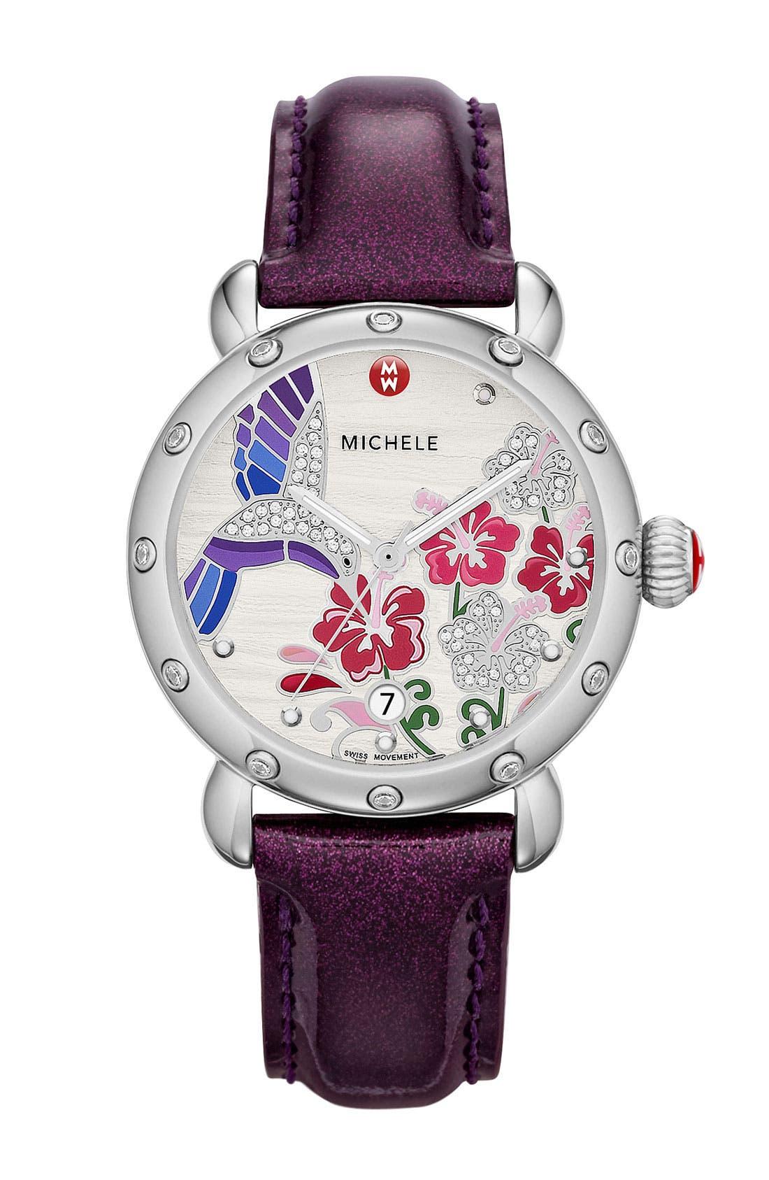 Alternate Image 2  - MICHELE 'Garden Party - Hummingbird' Diamond Watch Case